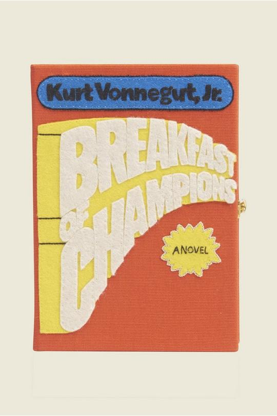 Breakfast of Champions Book Clutch by Olympia Le Tan