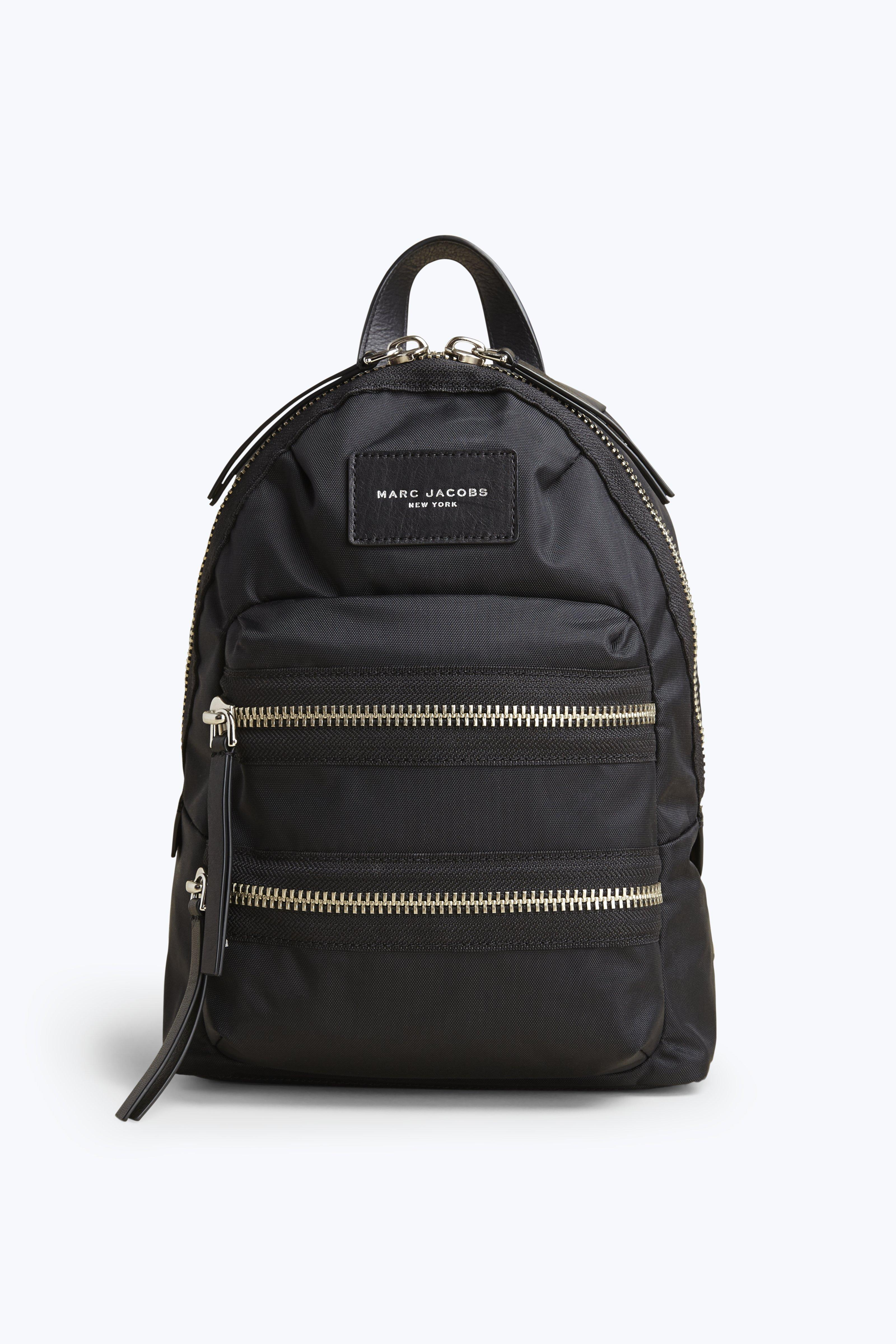 marc jacobs biker mini leather trimmed shell backpack in. Black Bedroom Furniture Sets. Home Design Ideas