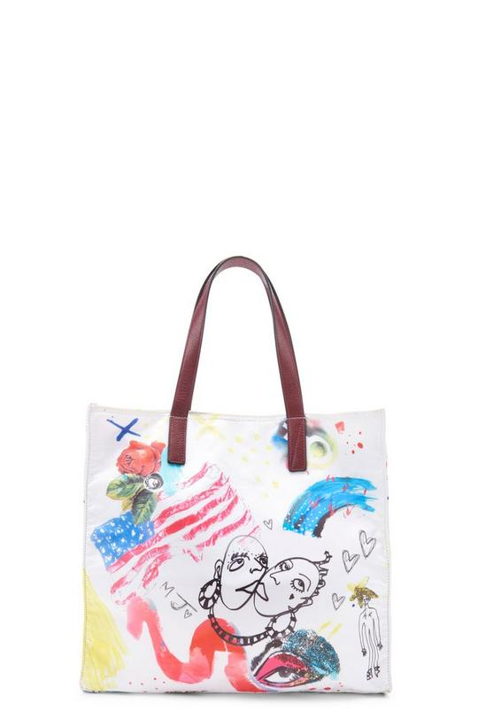 B.Y.O.T. Collage Print North/South Tote