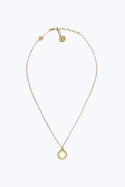 Womens jewelry marc jacobs official site logo disc pendant necklace aloadofball Images
