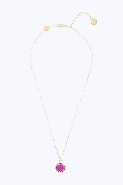 Womens jewelry marc jacobs official site logo disc pendant necklace aloadofball Image collections
