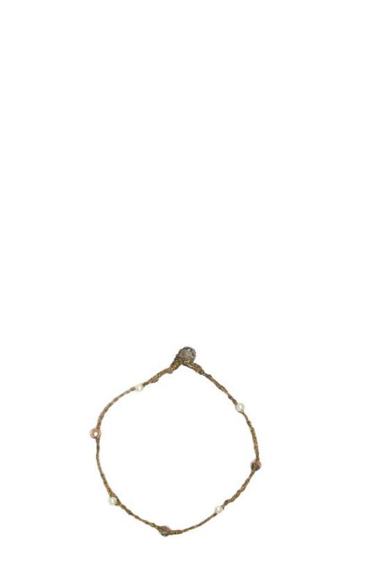 Macramé Pearl Bracelet
