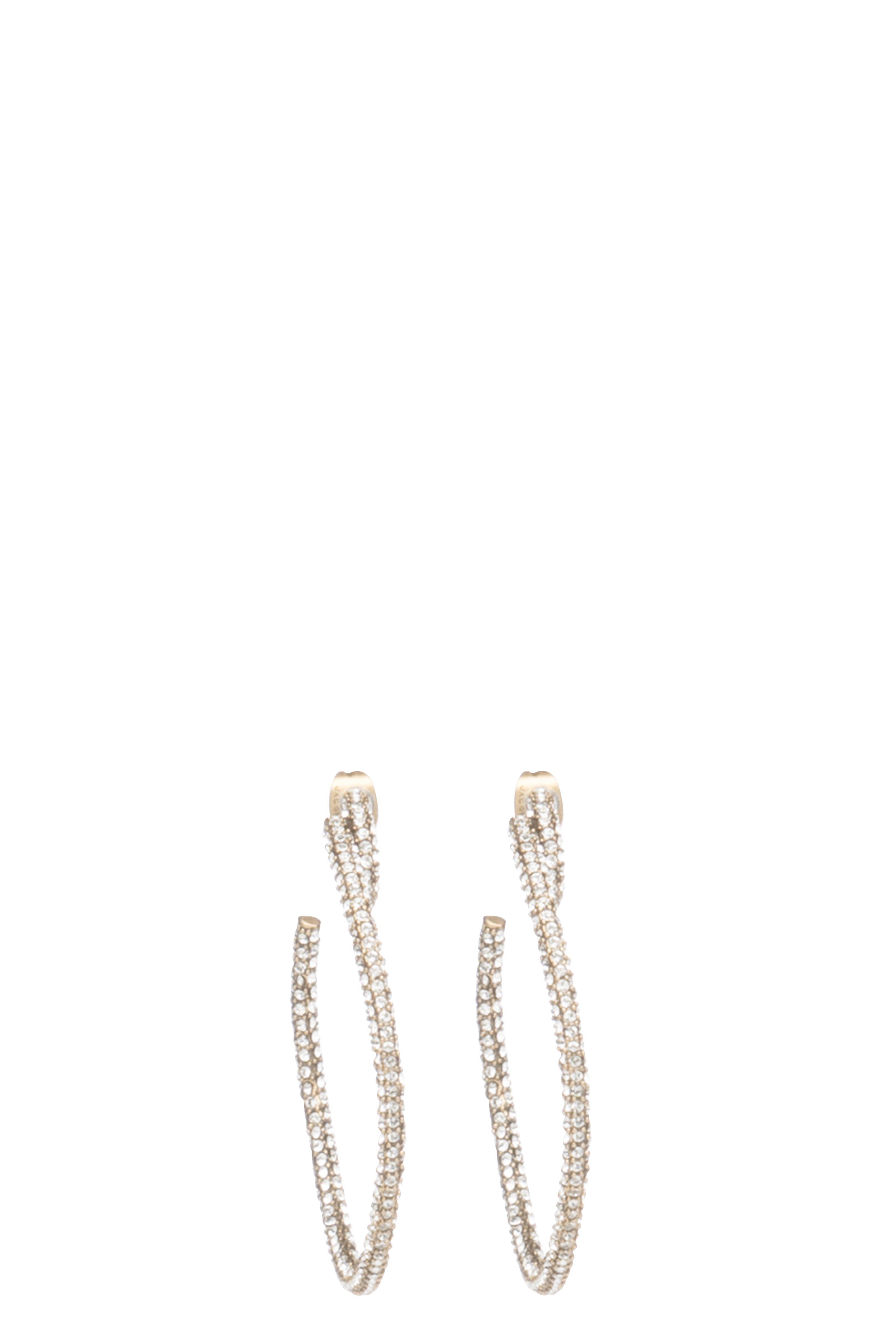 Marc Jacobs Earrings Pavé Large Twisted Hoop Earrings