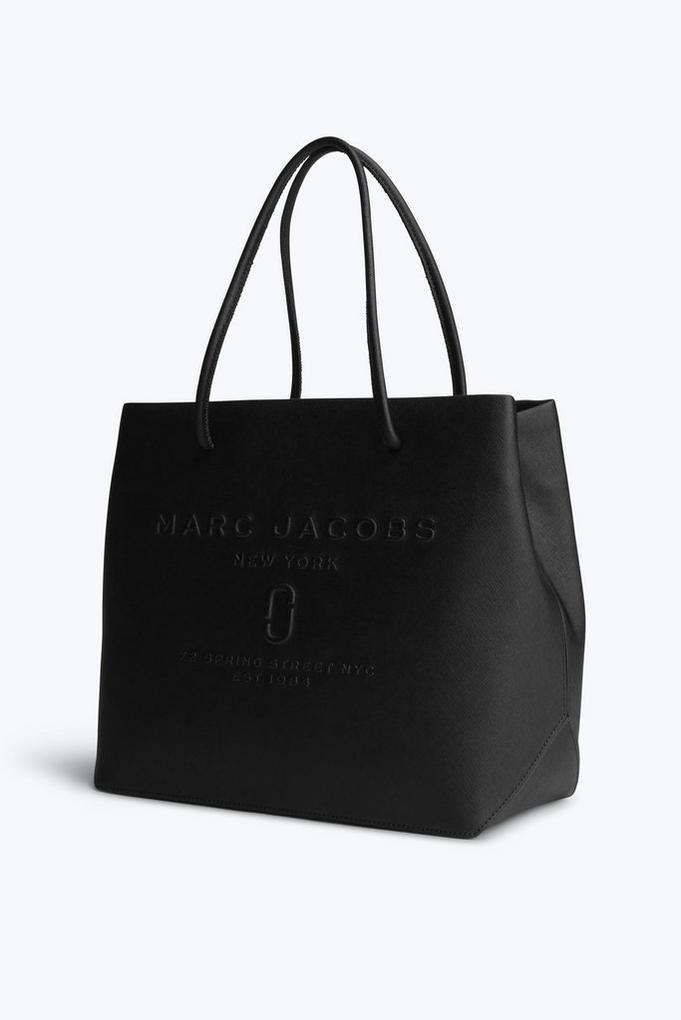 Marc Jacobs De Sac Shopper Logo En Cuir De Vachette Noir IP6HU