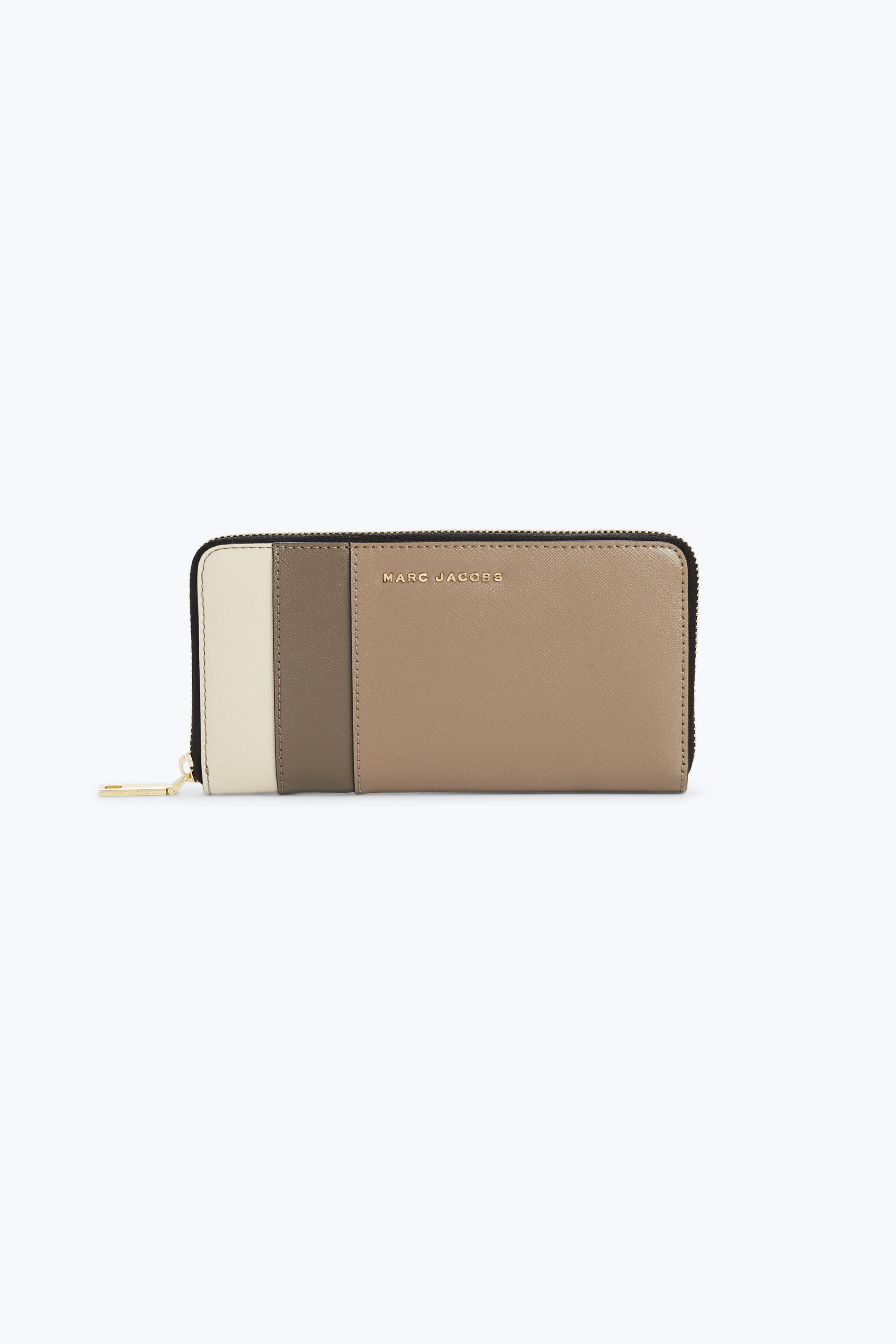 STANDARD COLOR BLOCK SAFFIANO LEATHER CONTINENTAL WALLET