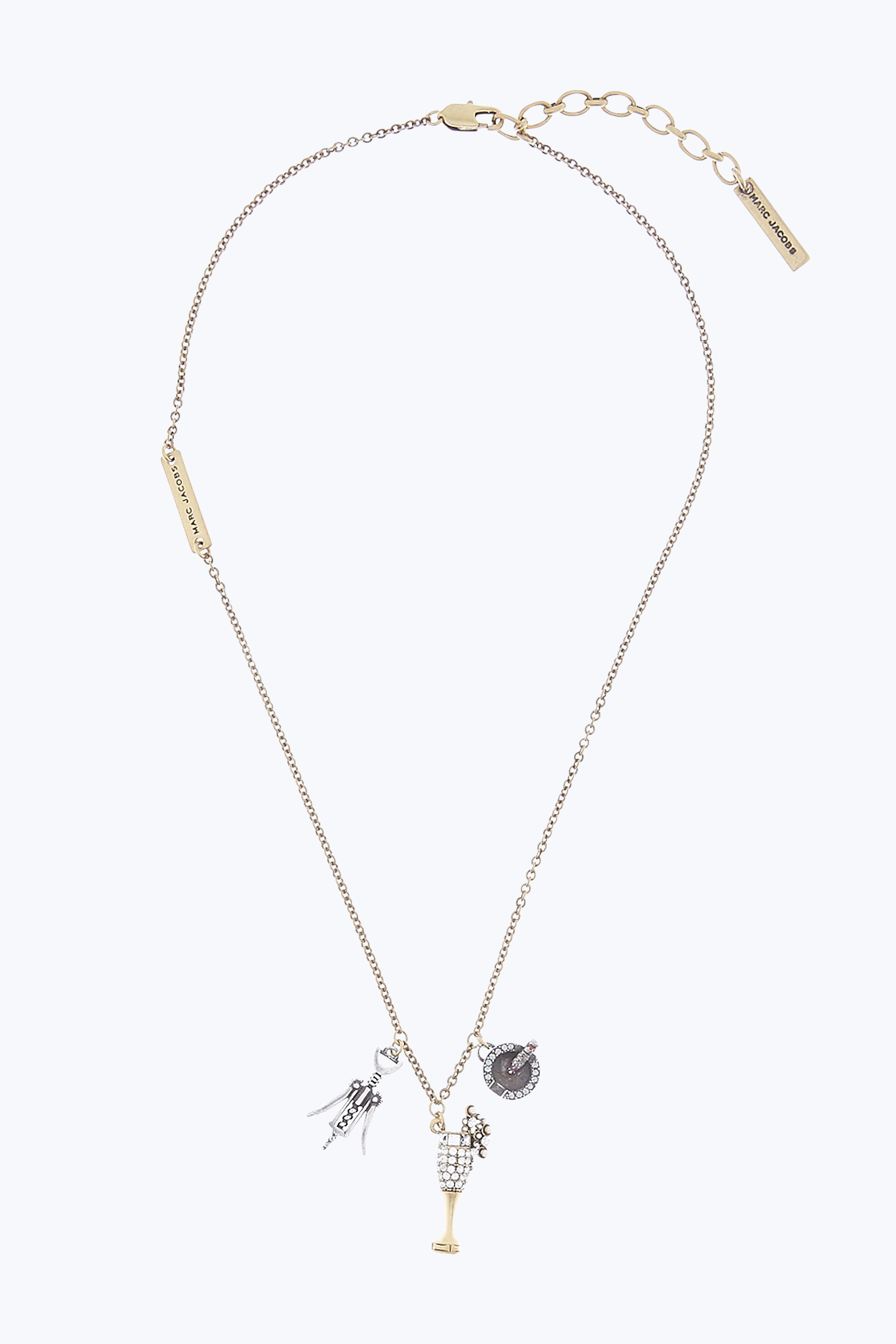 CHAMPAGNE PARTY NECKLACE
