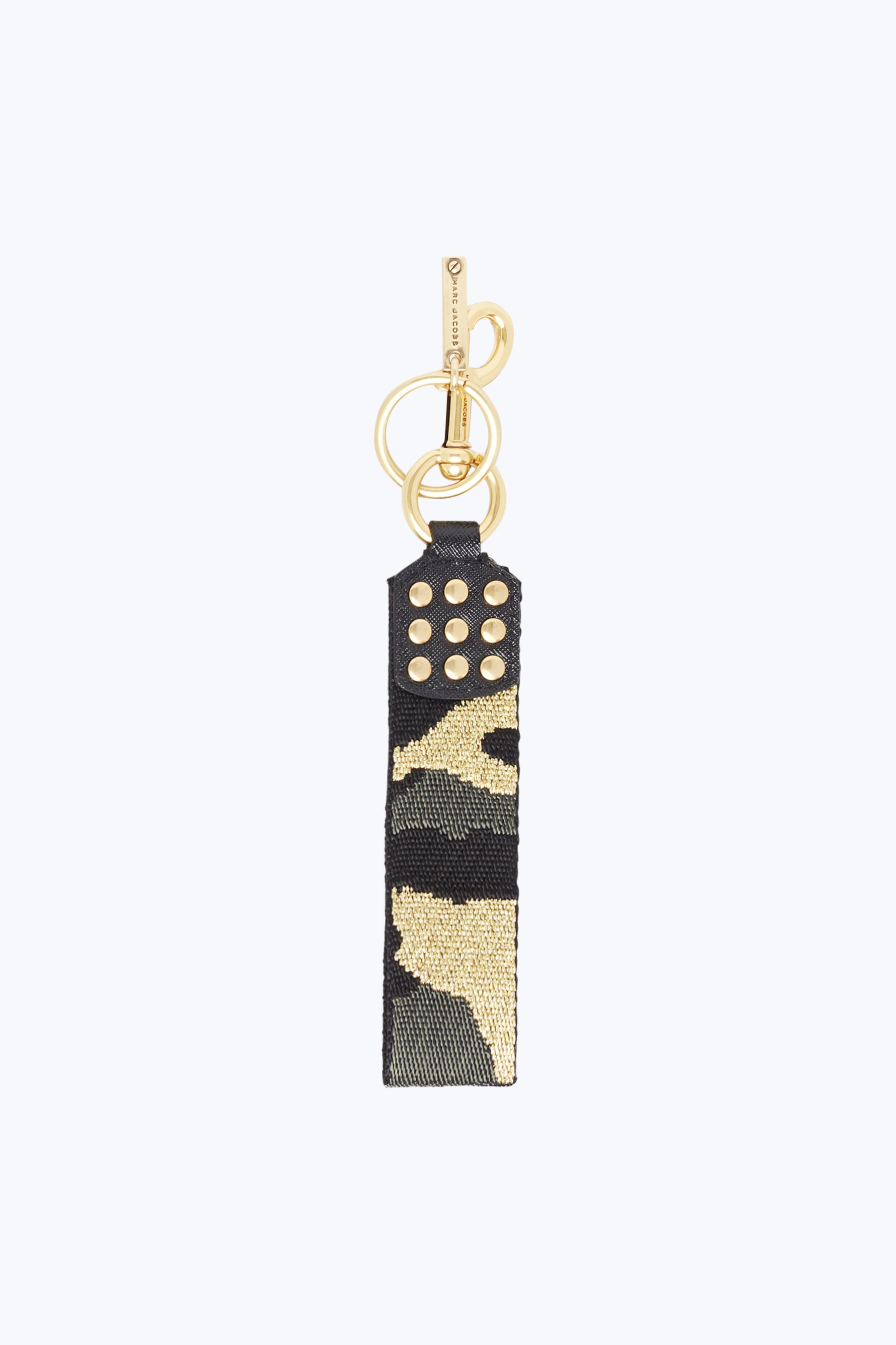 Marc Jacobs Brown Webbing Charm Keychain n0gx4INDPB
