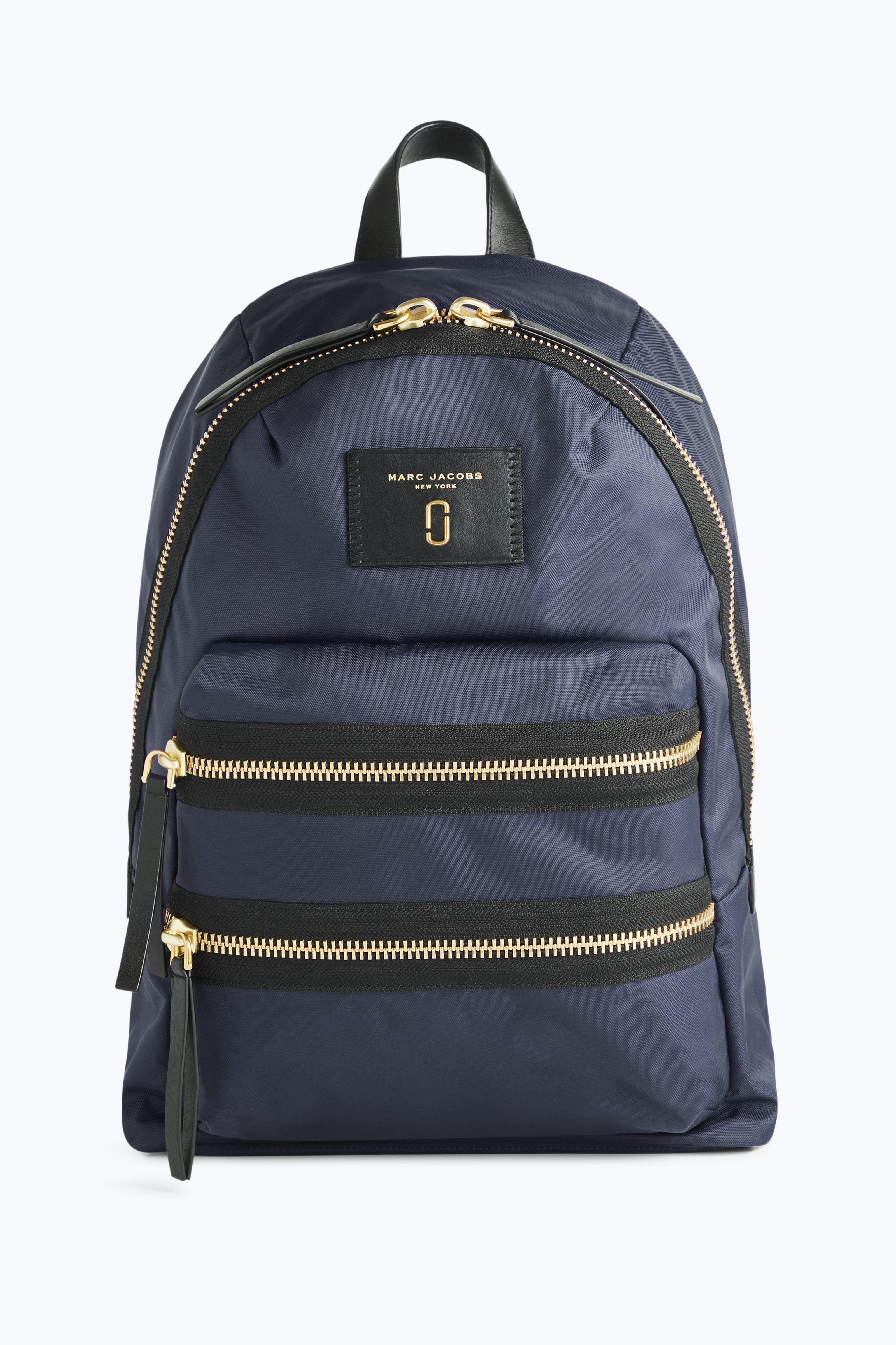 Nylon Biker Backpack, Midnight Blue