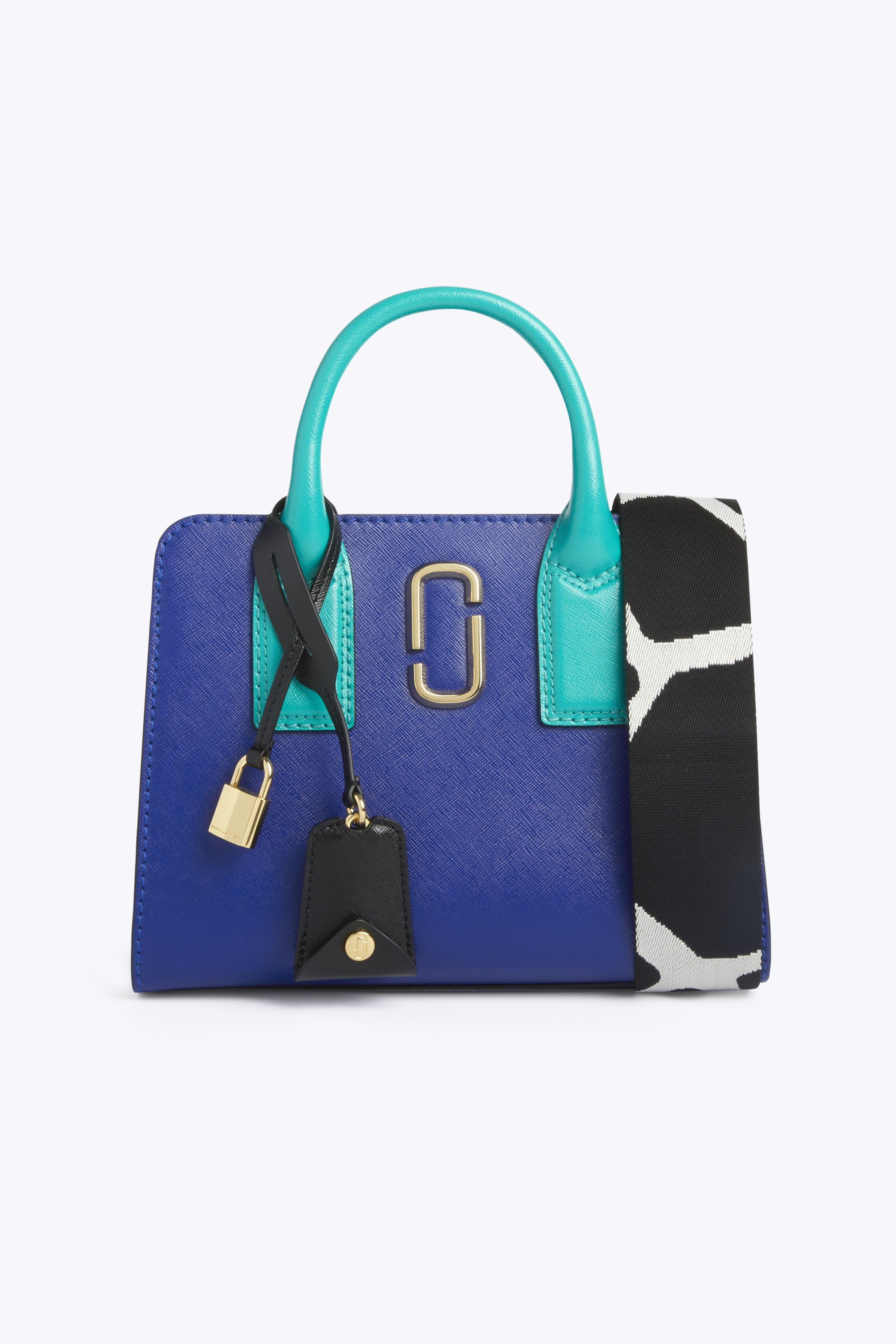 Little Big Shot Leather Tote - Blue, Academy Blue Multi