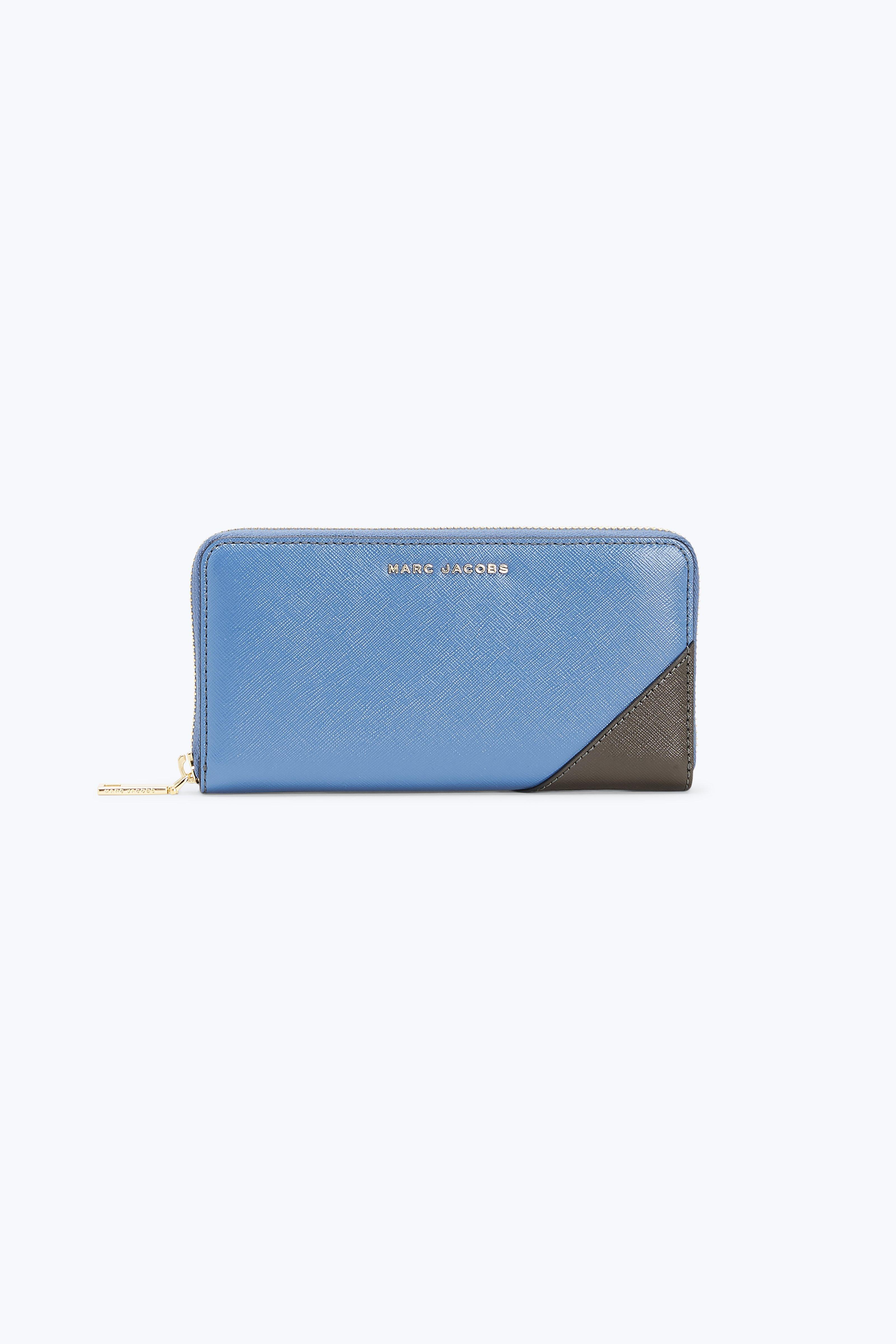 Saffiano Metal Letters Standard Continental Wallet