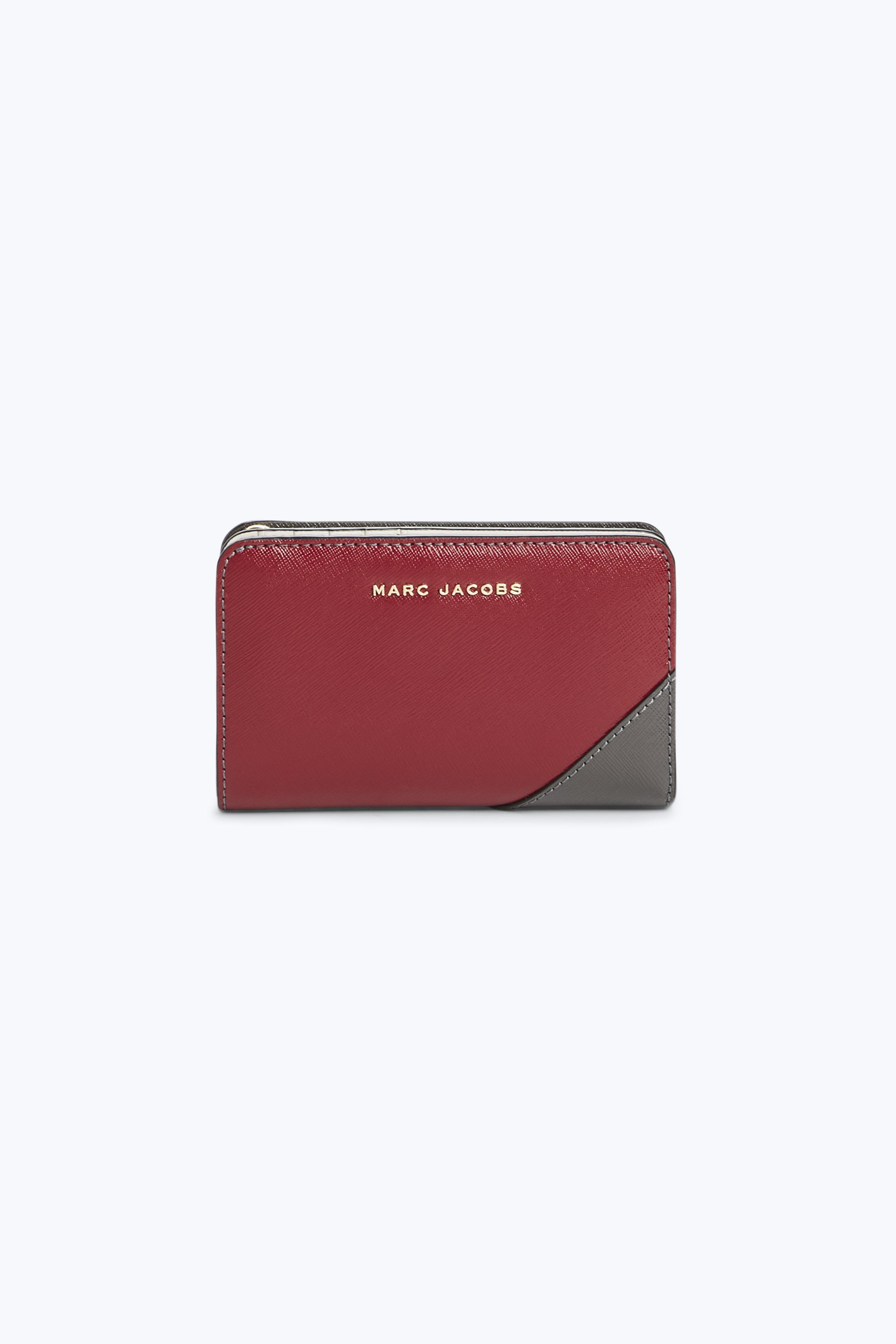 Saffiano Metal Letters Compact Wallet