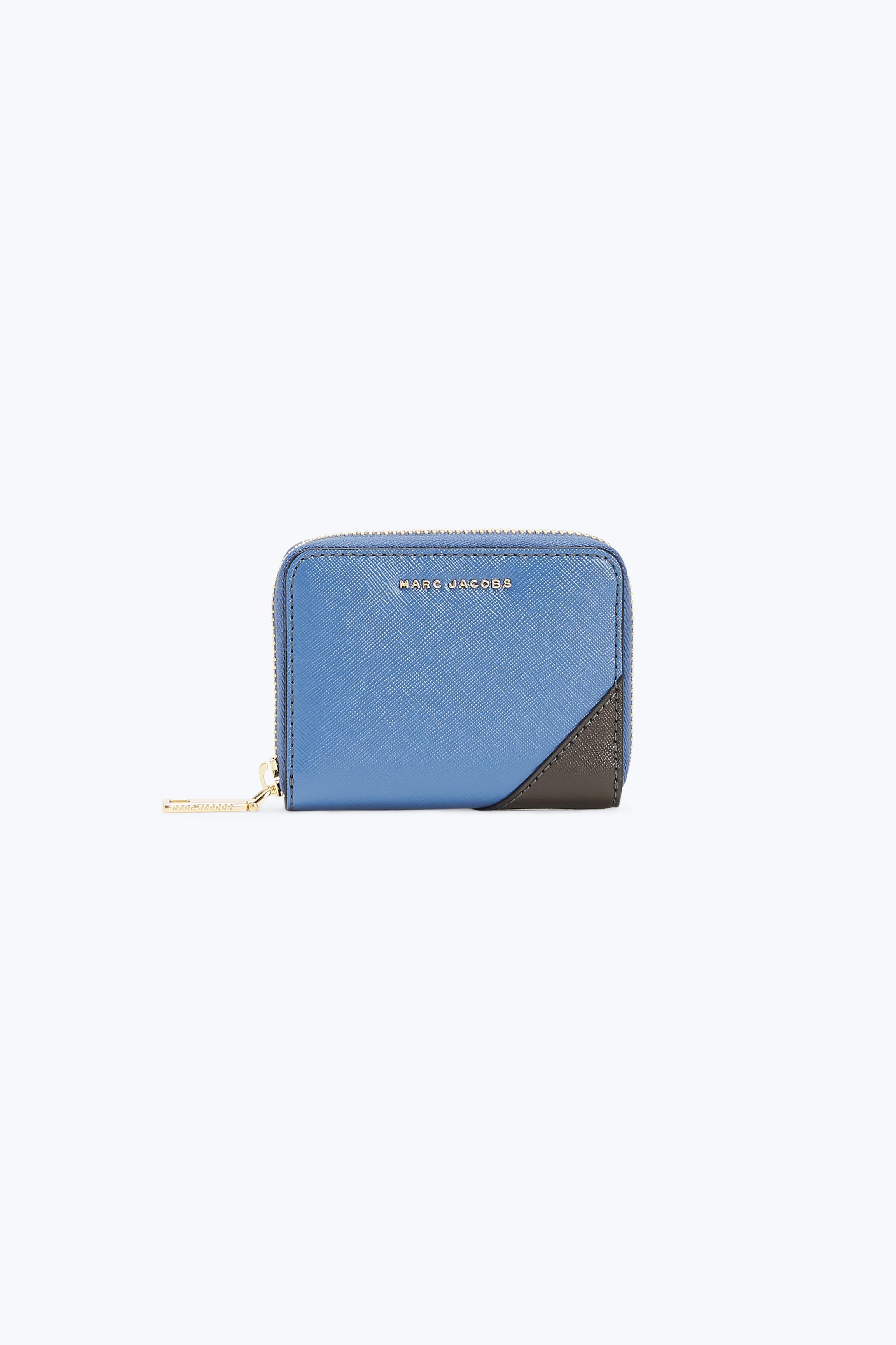 Saffiano Metal Letters Zip Card Case