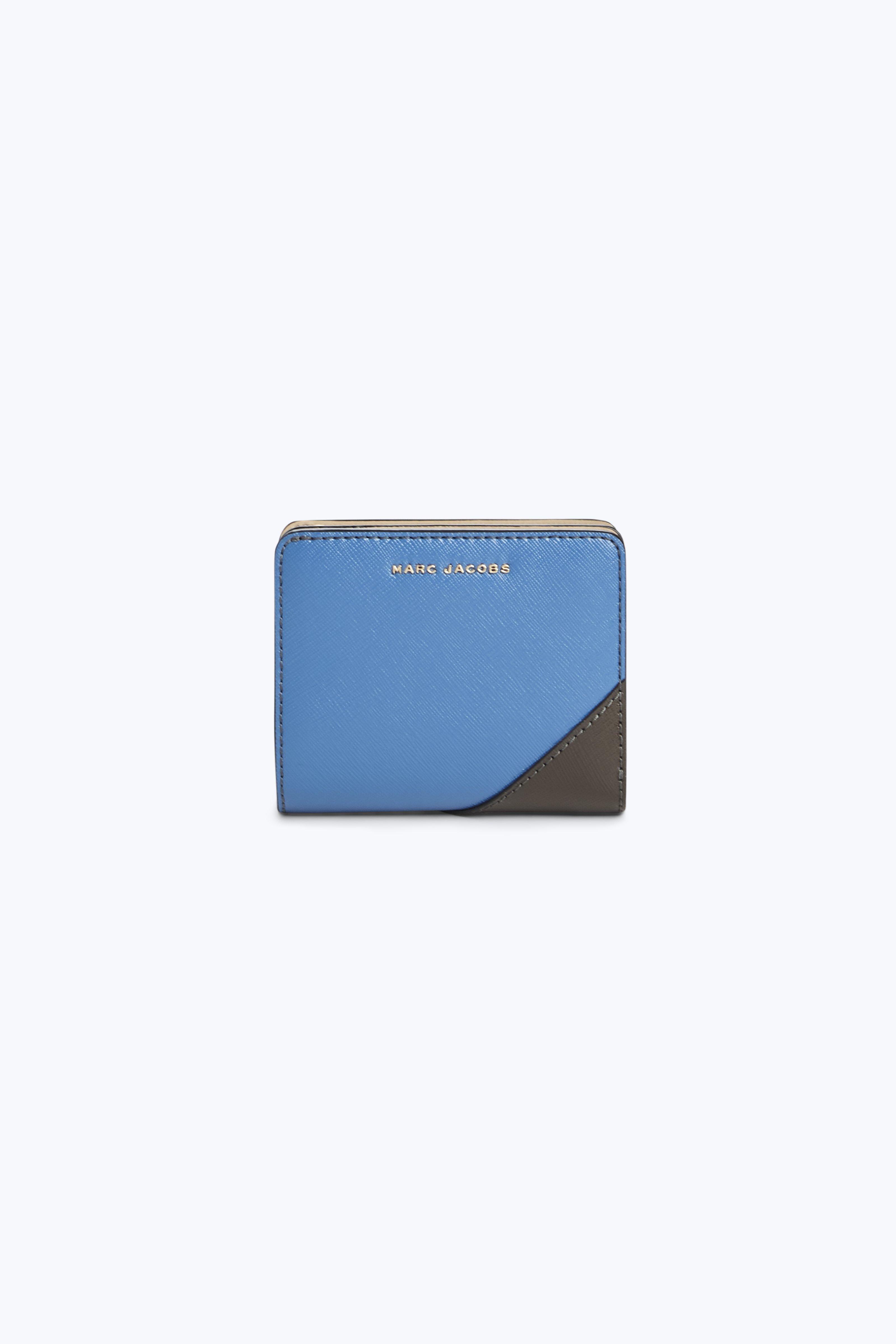 Saffiano Metal Letters Mini Compact Wallet