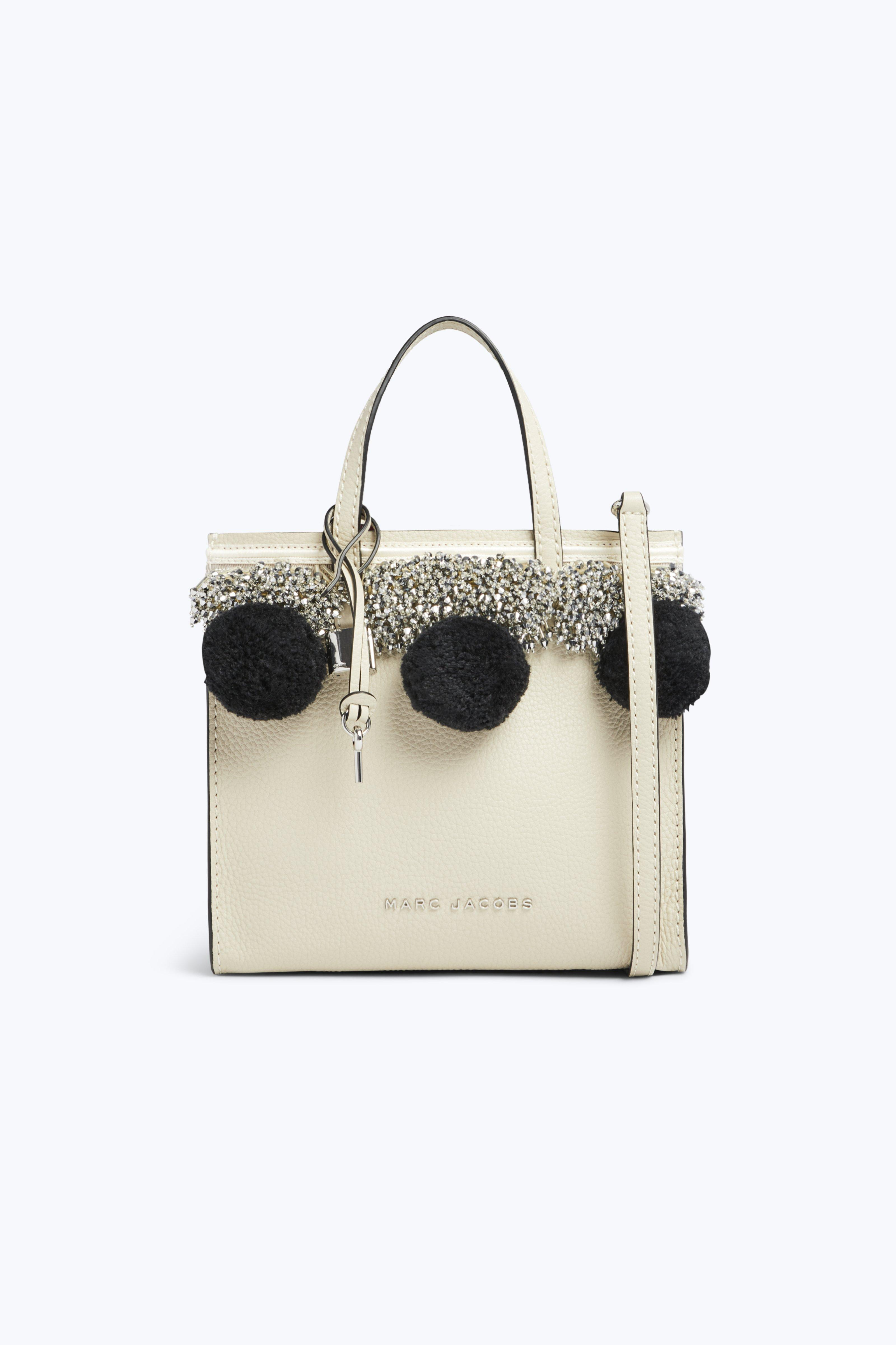 THE MINI GRIND BEADS & POMS LEATHER CROSSBODY
