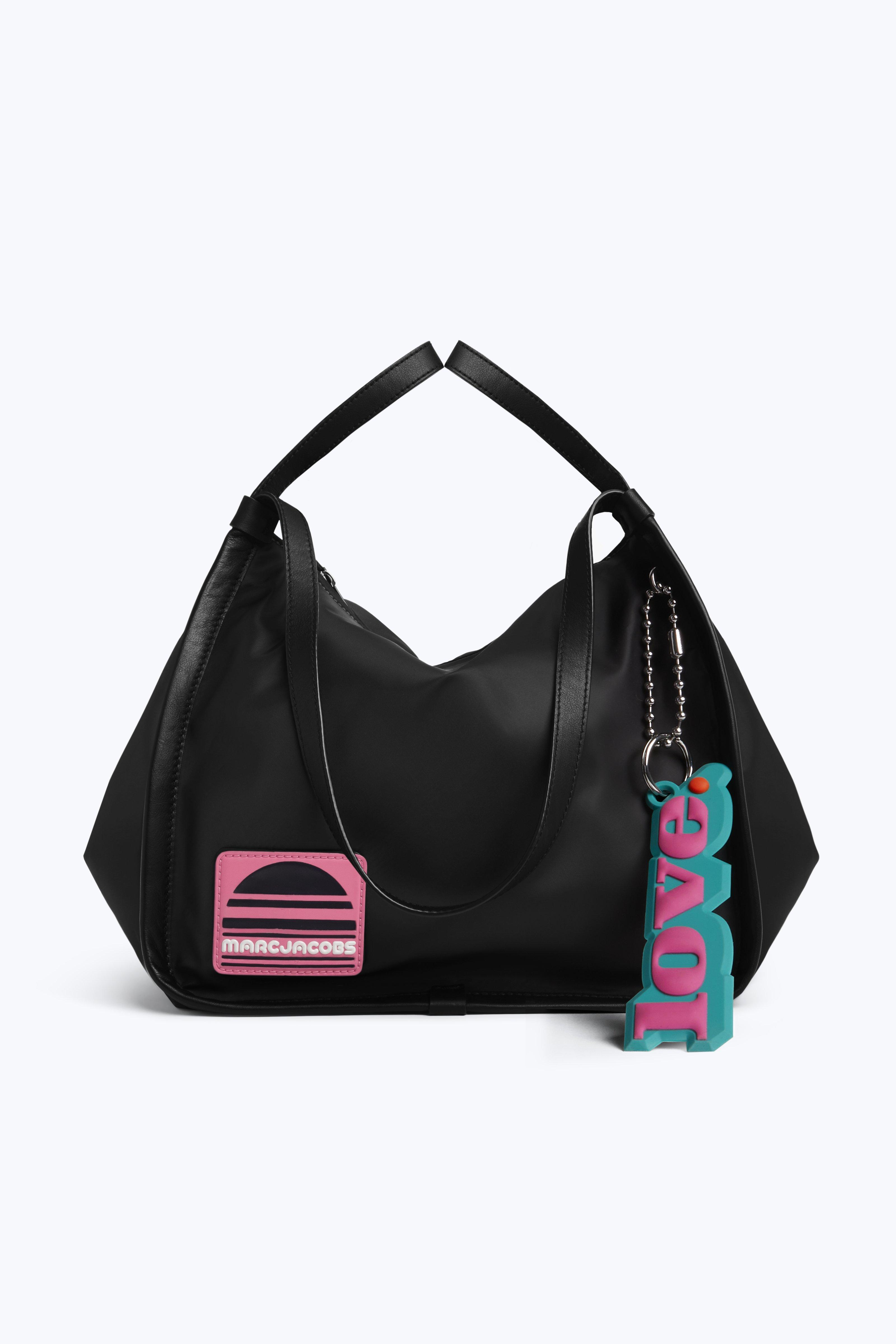 Sport Nylon And Leather Tote, Black