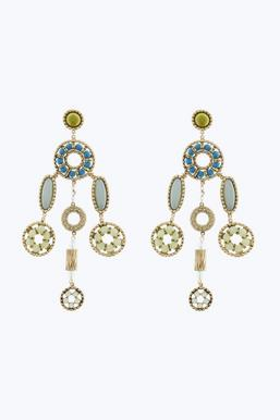 Marc Jacobs Jeweled Statement Earrings in Pink Brass