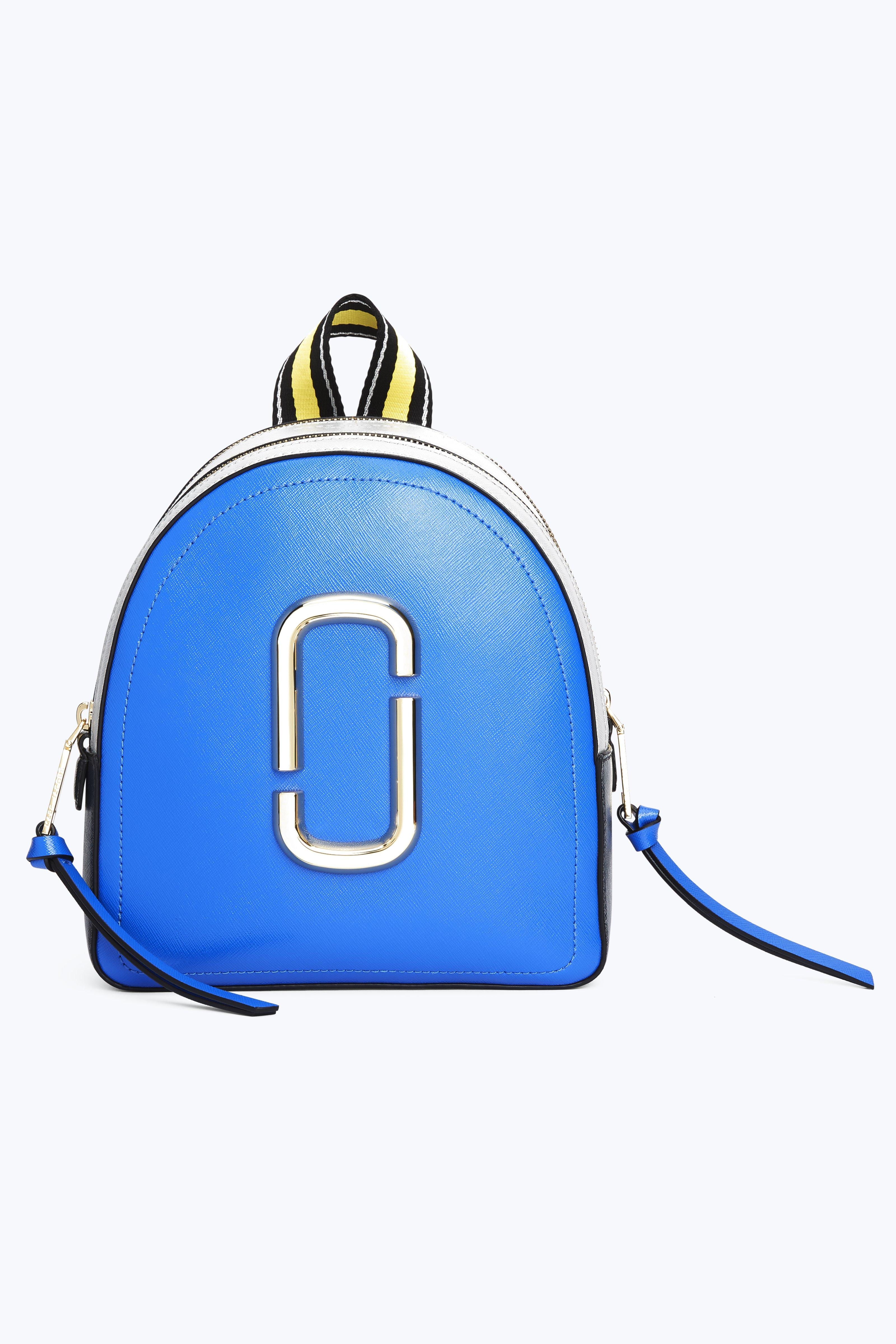 Pack Shot Leather Backpack - Blue in Dazzling Blue Multi