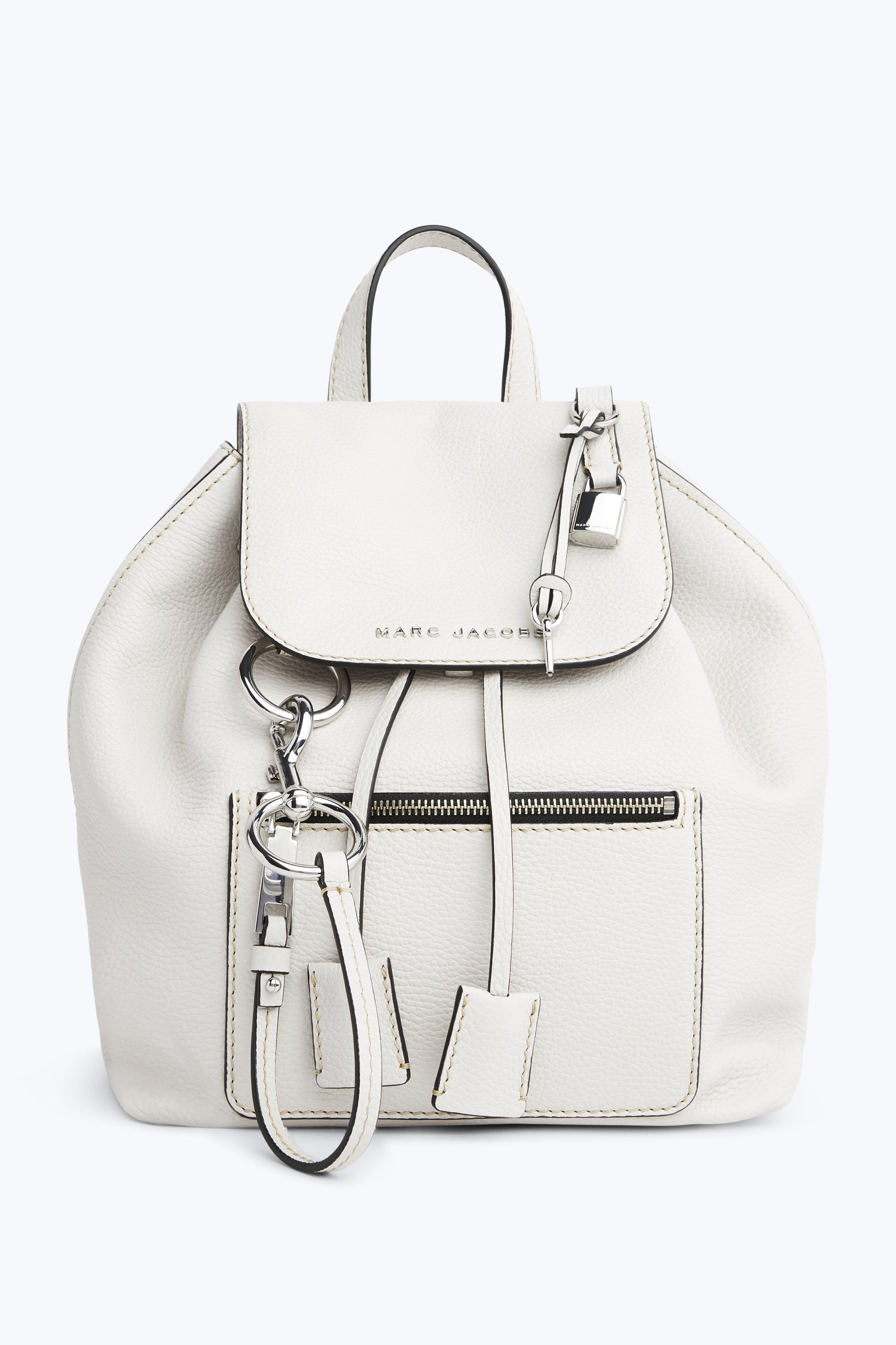 THE BOLD GRIND LEATHER BACKPACK - WHITE