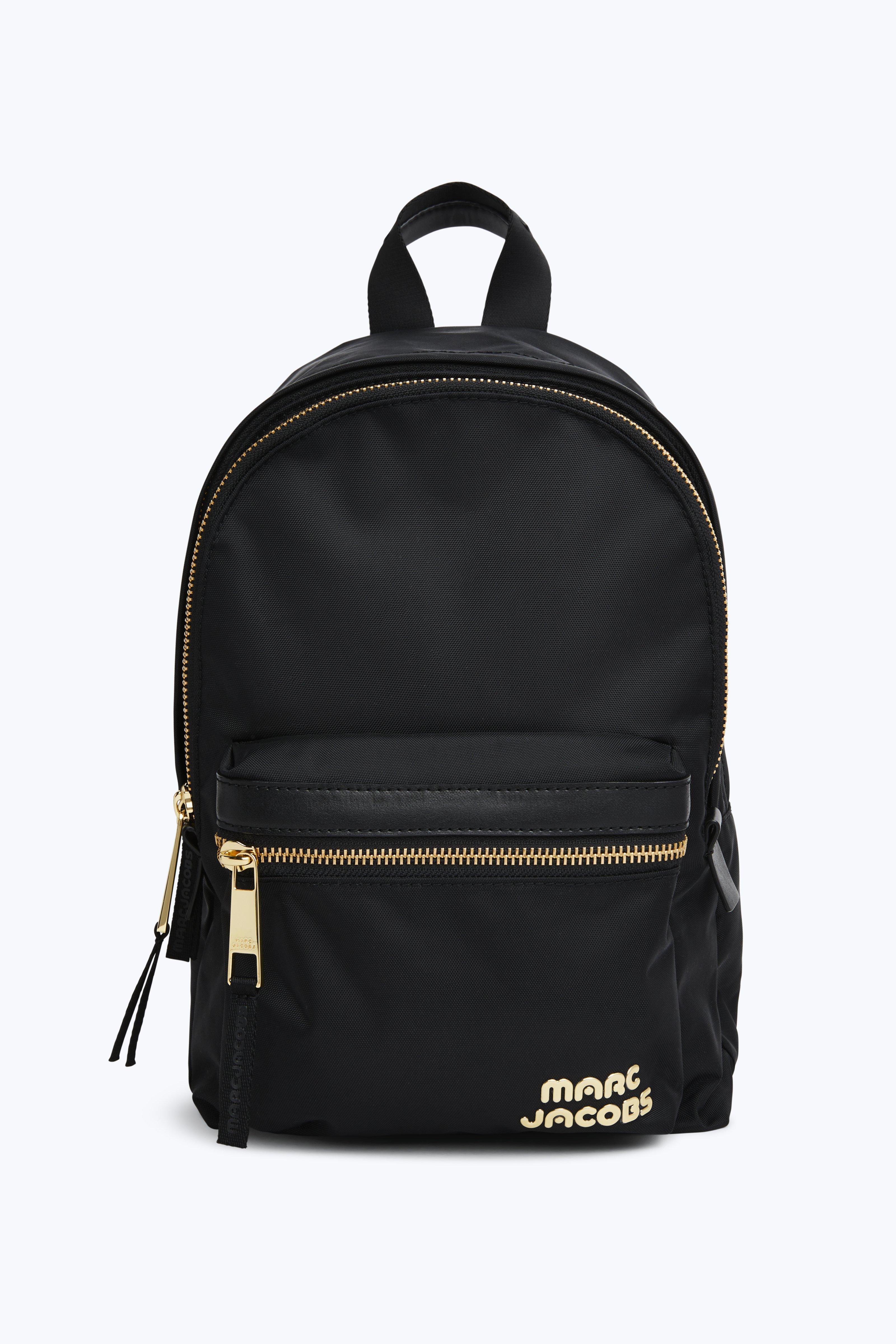 Trek Pack Leather Medium Backpack, Black