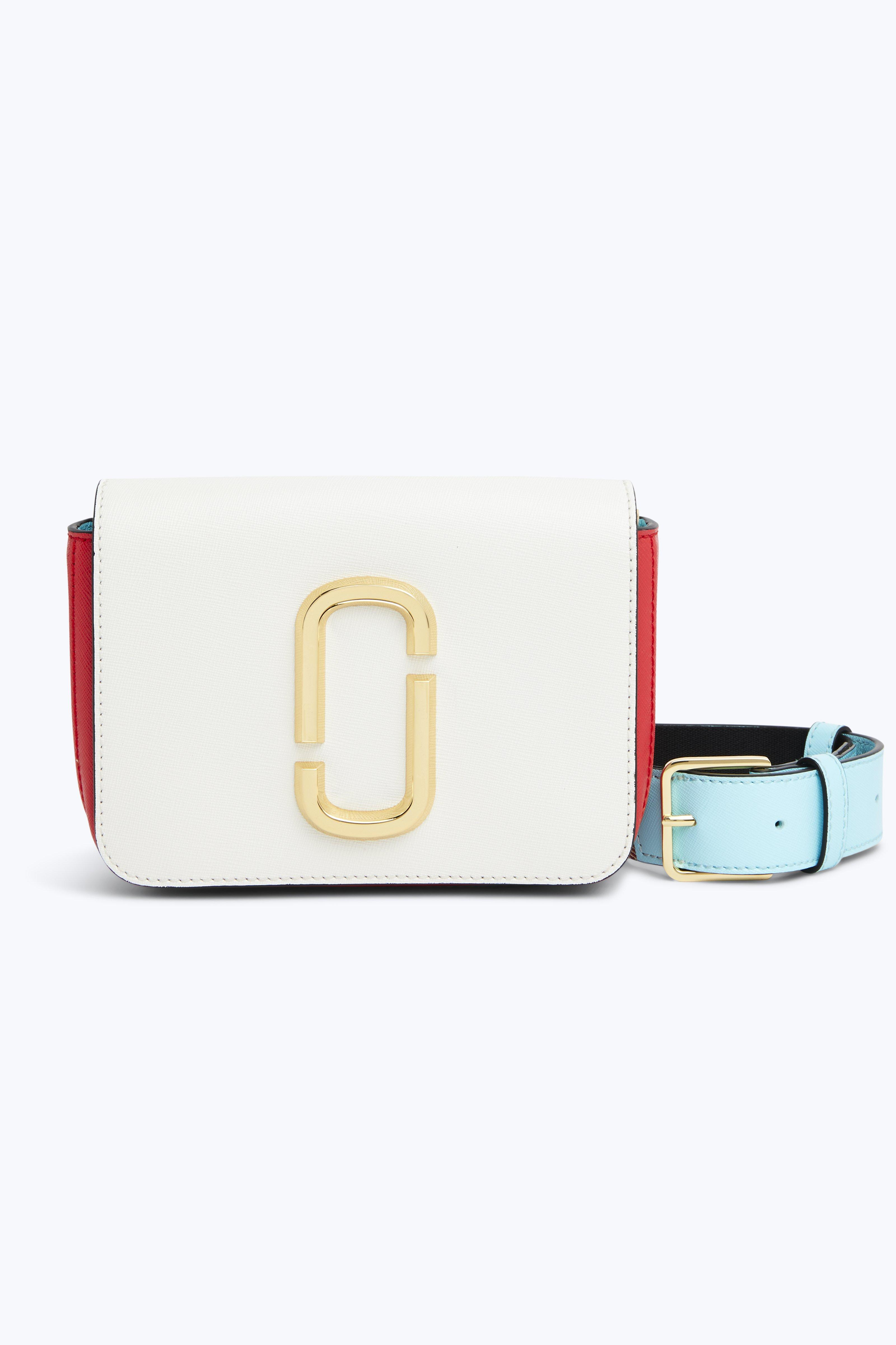 The Hip Shot Convertible Color-Block Textured-Leather Belt Bag, Porcelain Multi