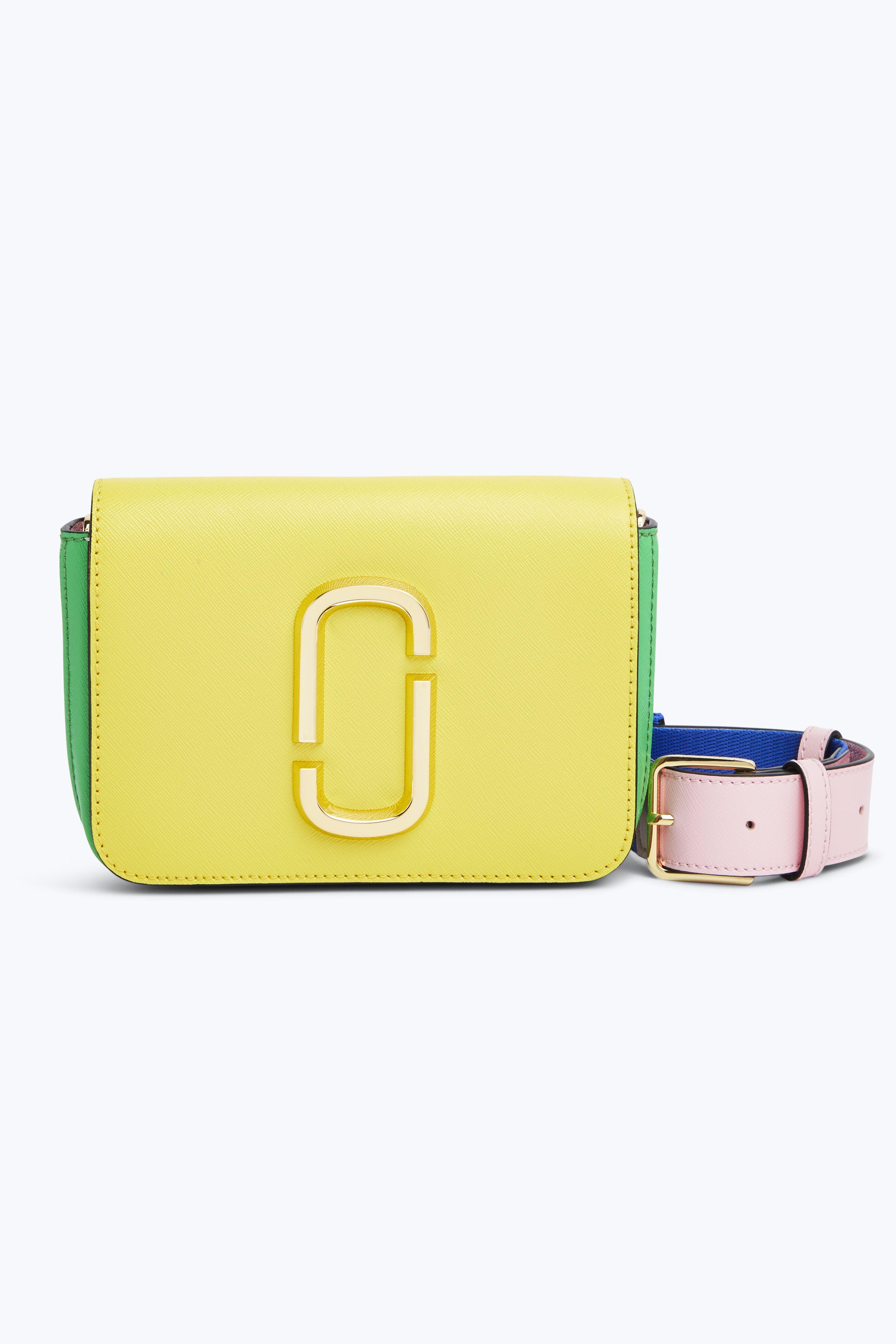Saffiano Leather Hip Shot Convertible Shoulder/Belt Bag, Daisy Yellow Multi