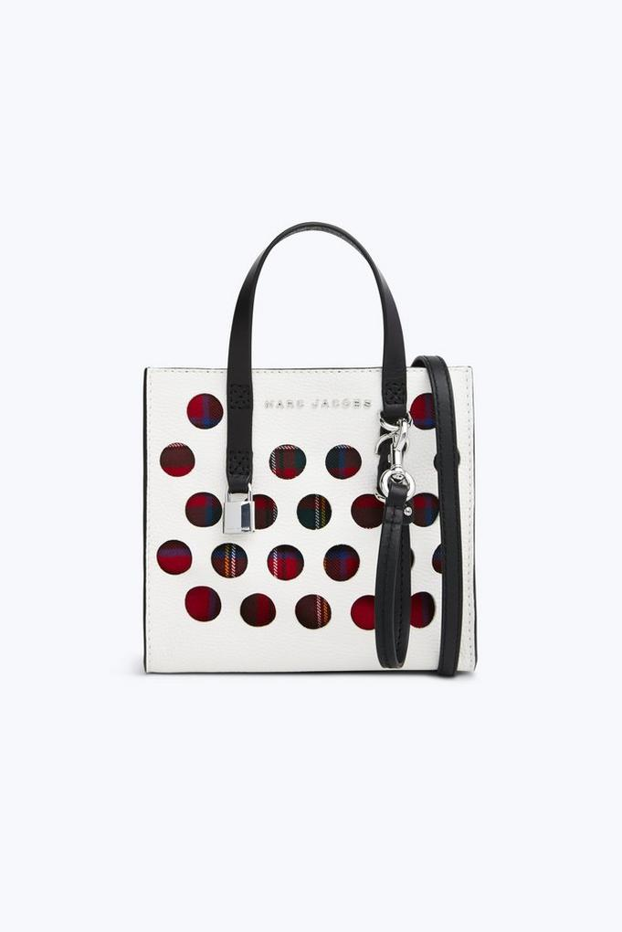 The Perforated Tartan Mini Grind Bag by Marc Jacobs