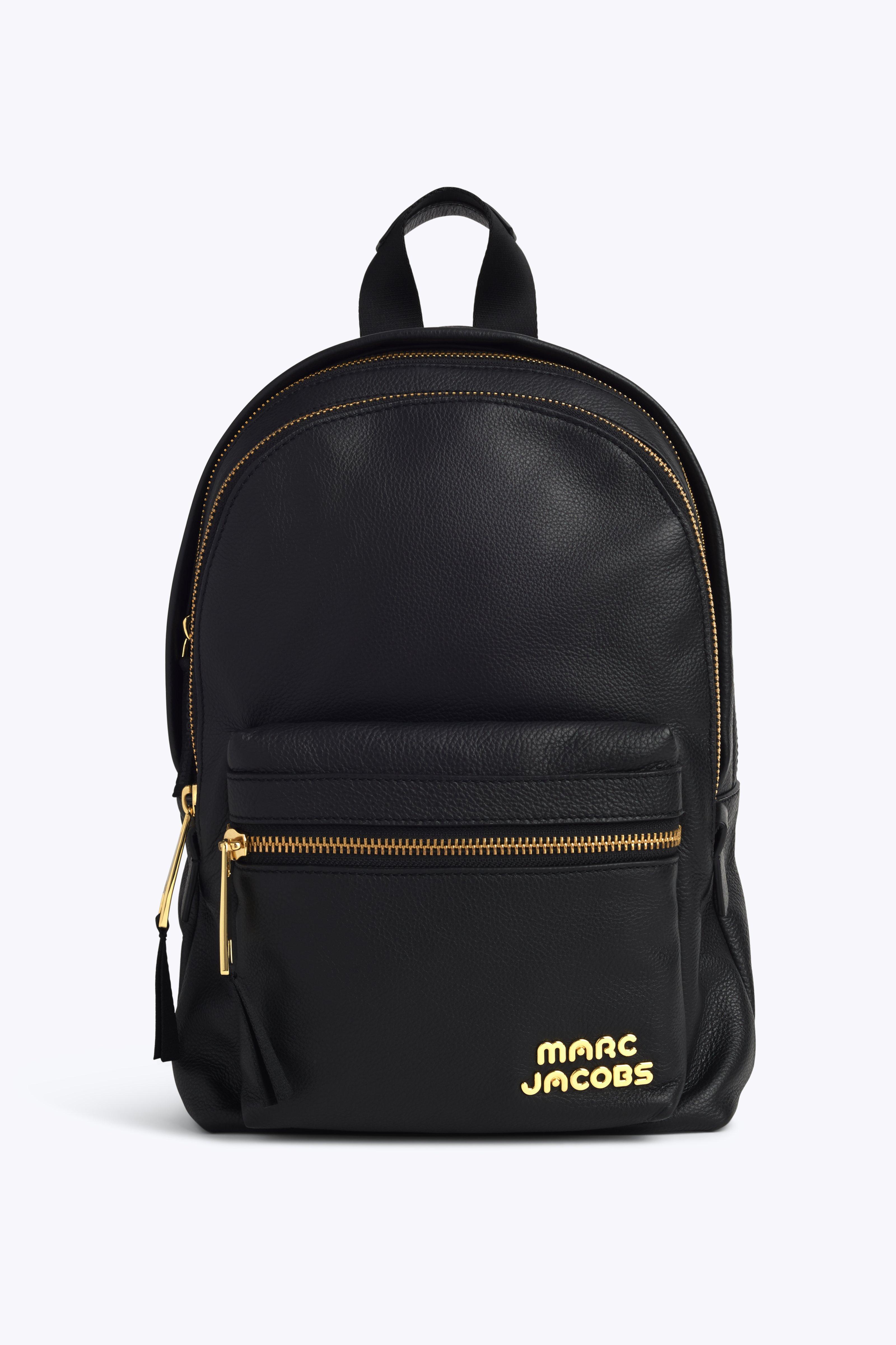 Medium Trek Leather Backpack - Black