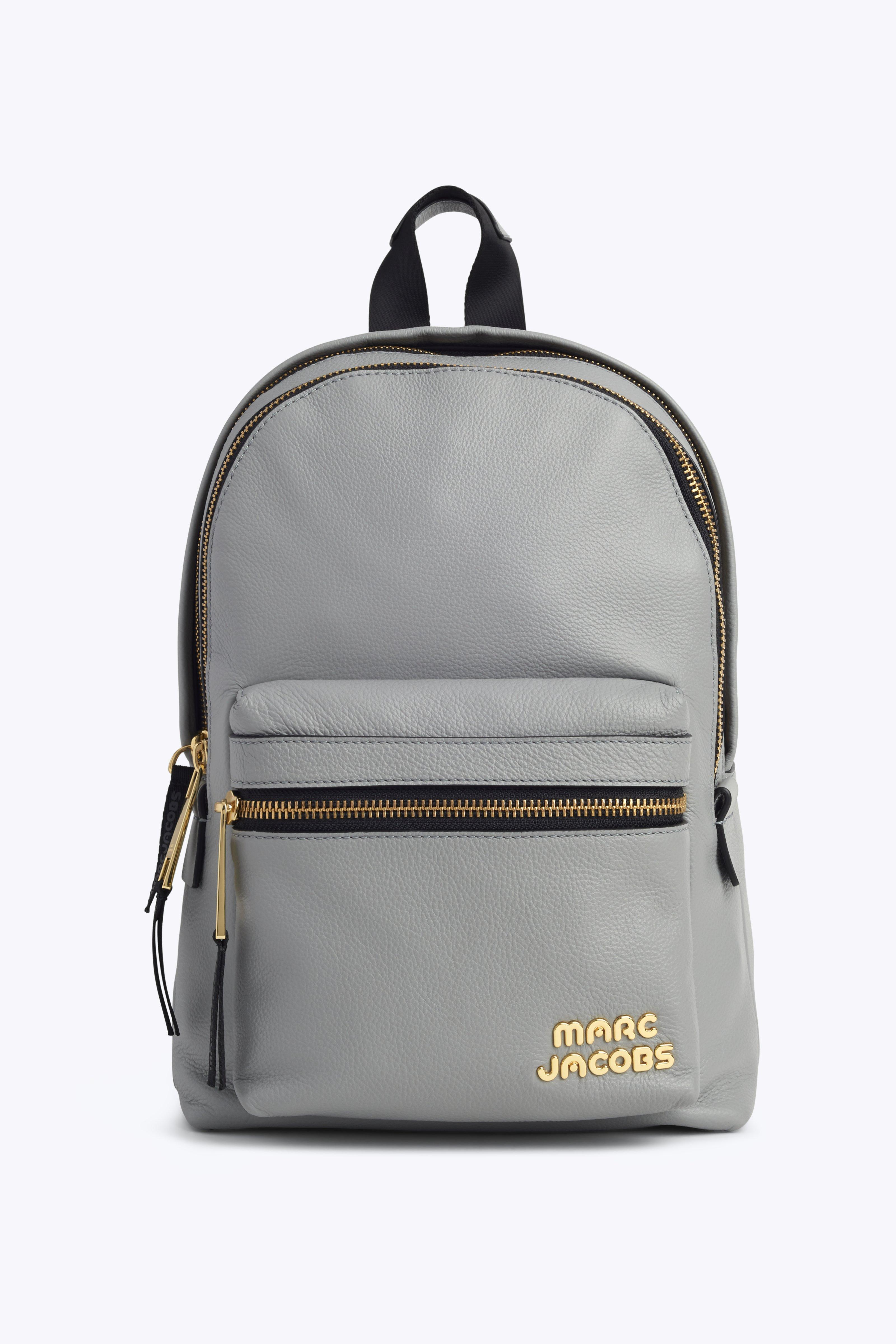 Medium Trek Leather Backpack - Grey, Griffin