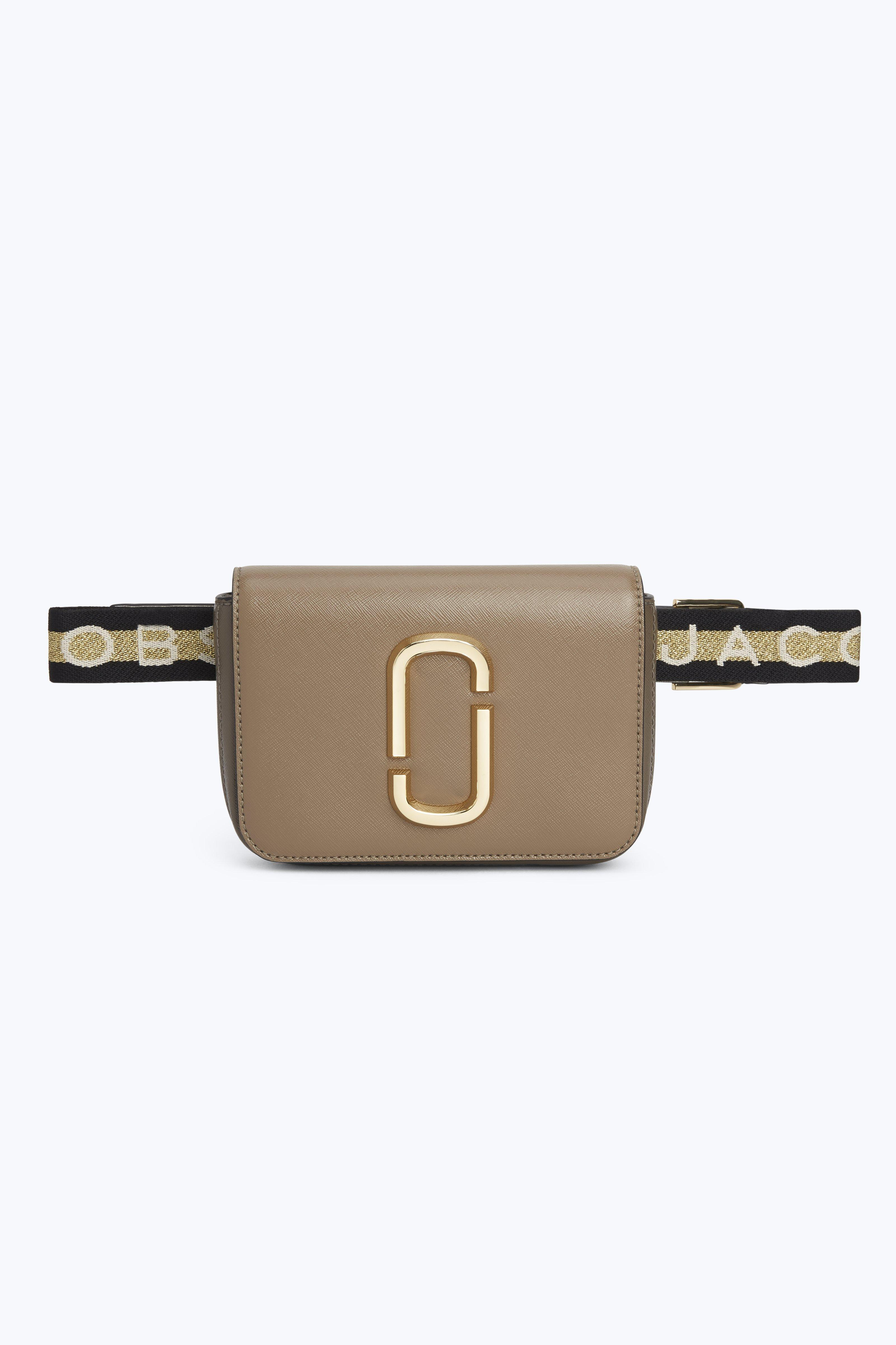 Hip Shot Convertible Leather Belt Bag - Grey in French Grey Multi