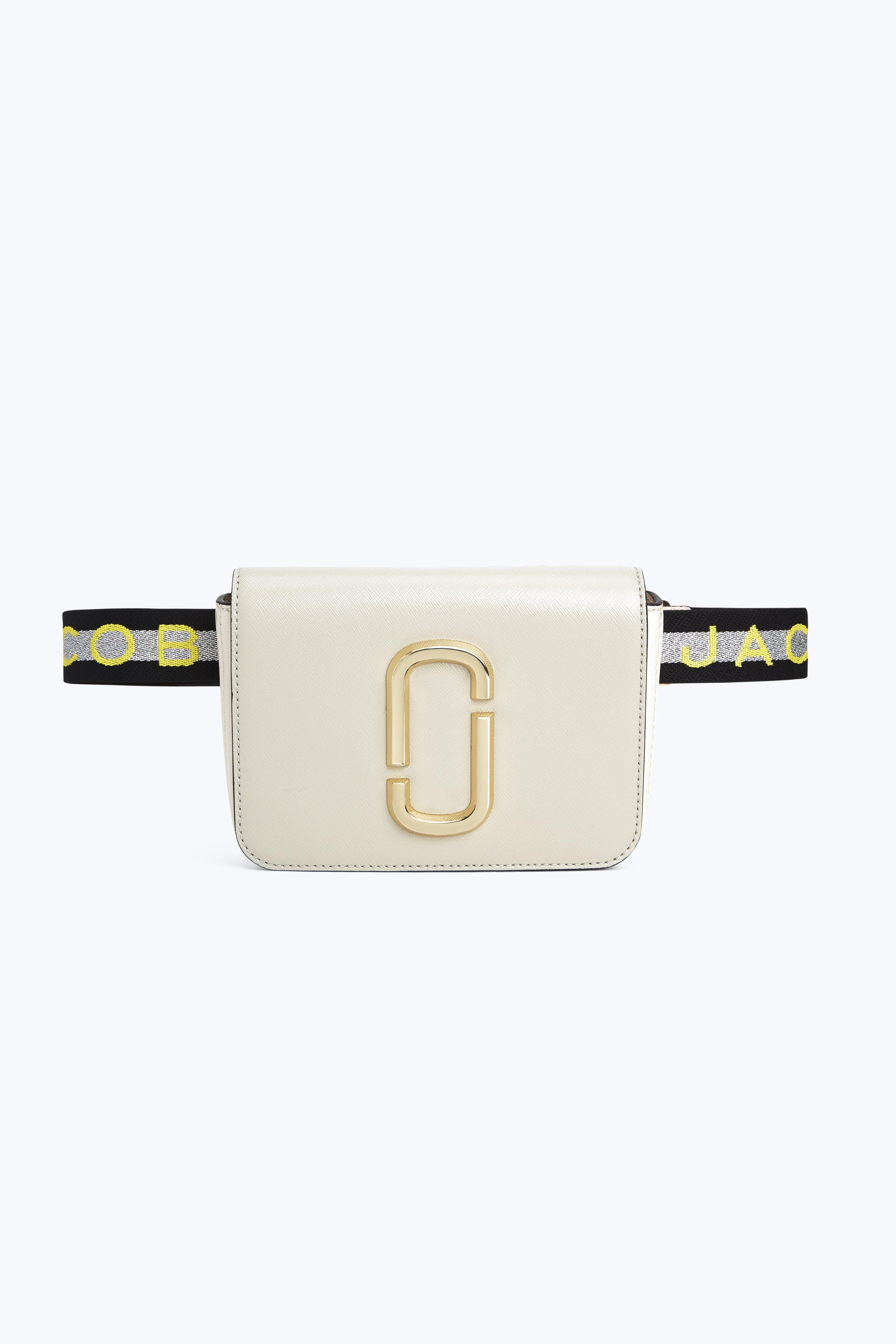 Hip Shot Convertible Leather Belt Bag - Ivory in Dust Multi