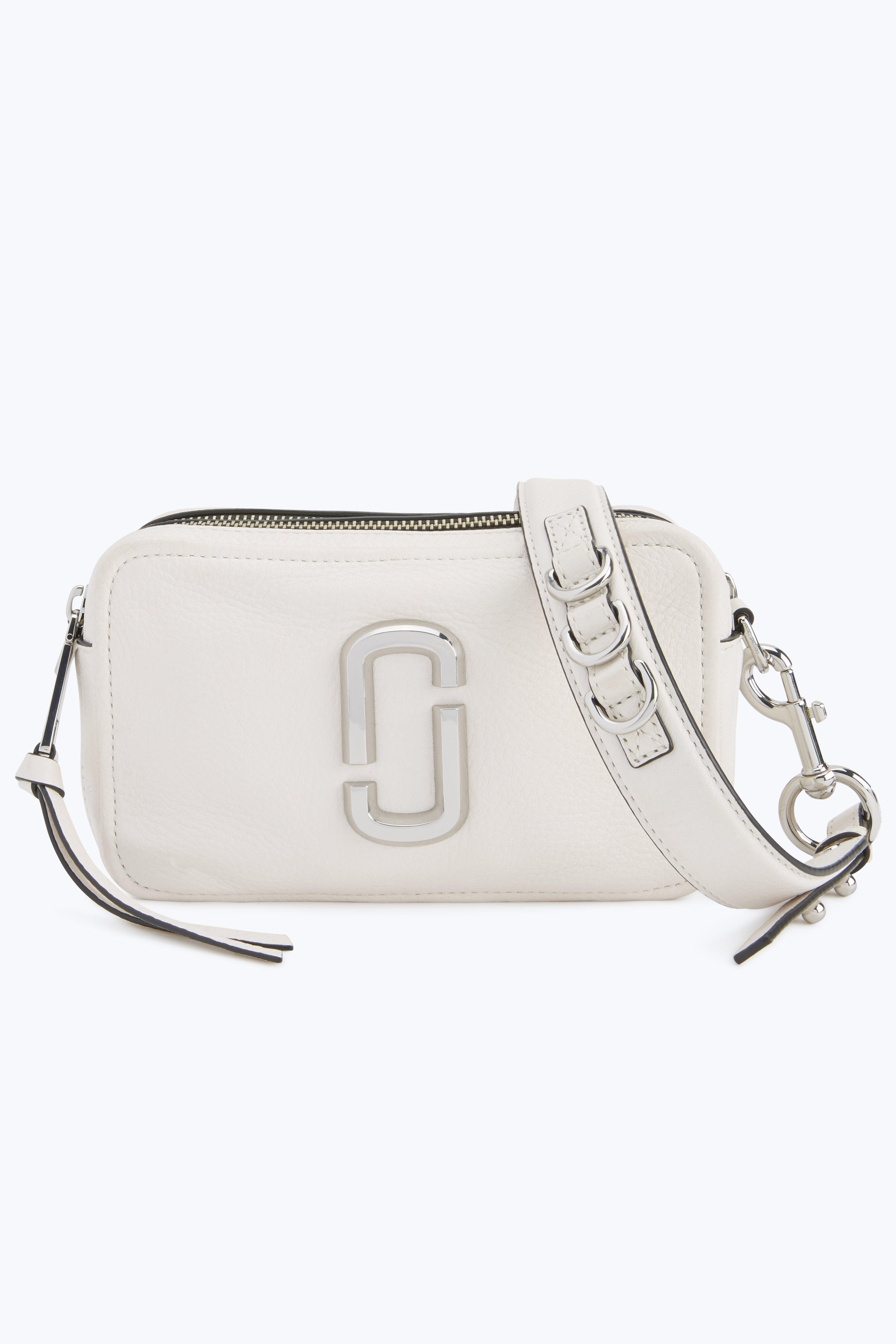 b4866945b68f Marc Jacobs The Softshot 27 Leather Crossbody Bag In Porcelain ...