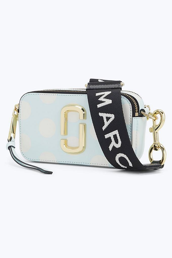 07370750d884 Klara spotted with our Marc Jacobs Logo Strap Snapshot Bag in French Grey. Marc  Jacobs small Snapshot Camera ...