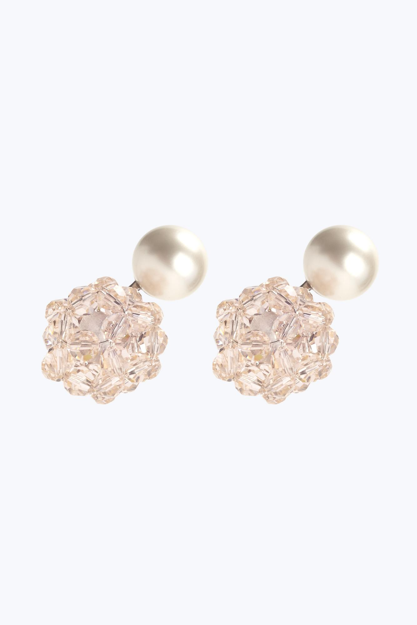 Crystal Ball Pearl Earrings by Marc Jacobs