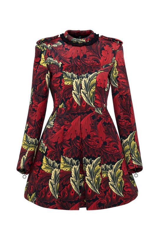 Acanthus Bonded Velvet Moulded Dress