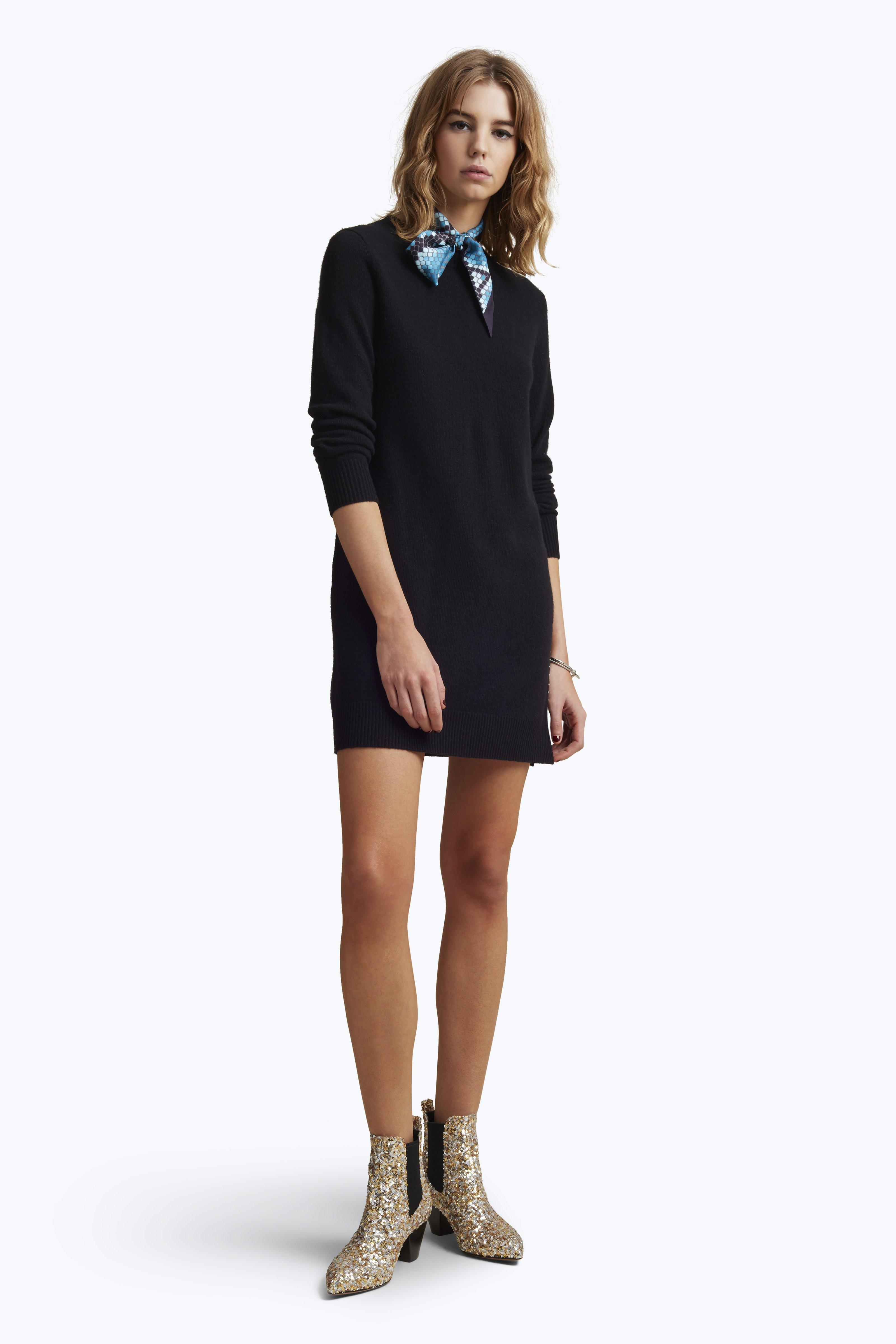 Long-Sleeve V-Neck Dress With Front Ruching - Marc Jacobs