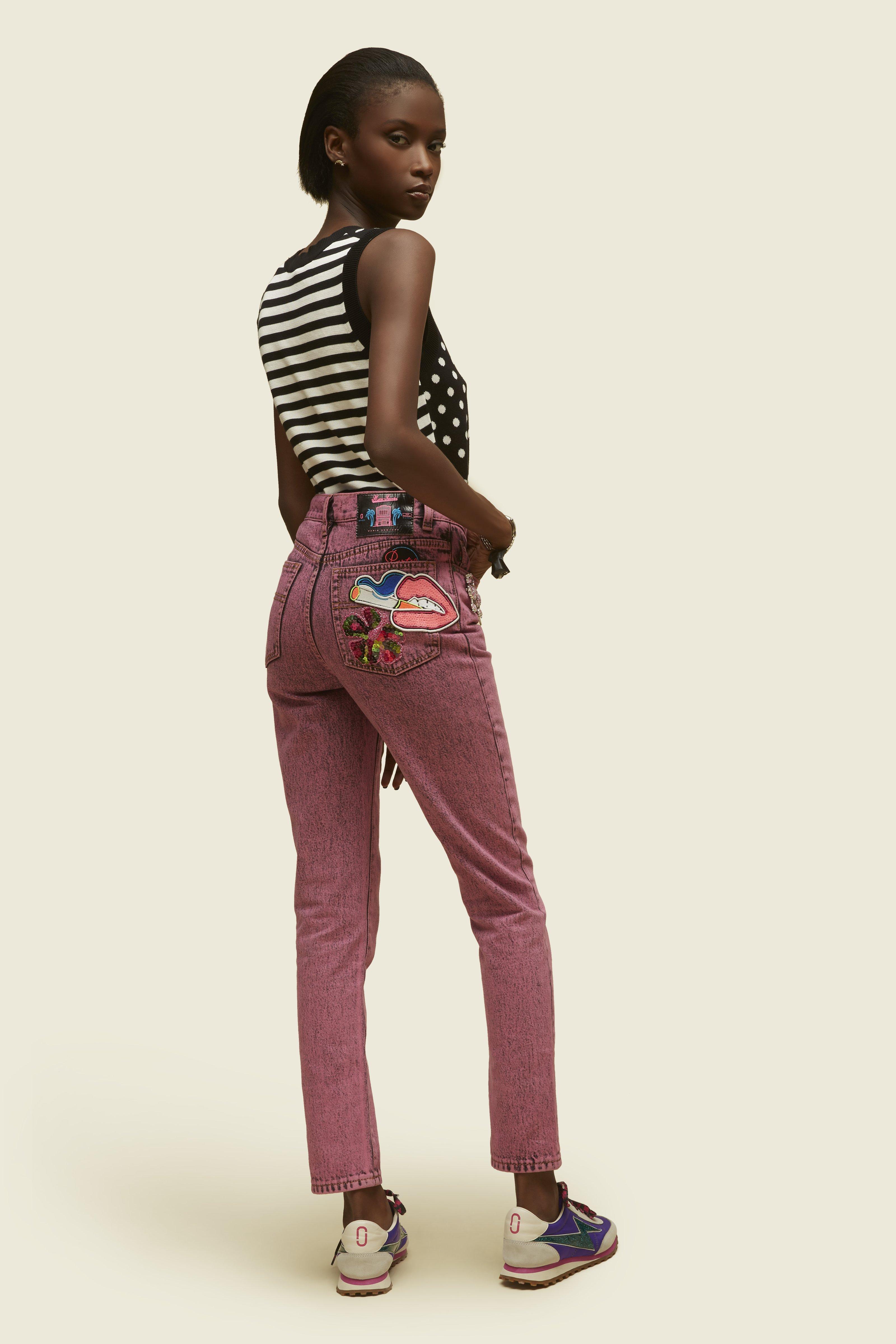 MARC JACOBS Polka Dot & Striped Cotton Sweatervest