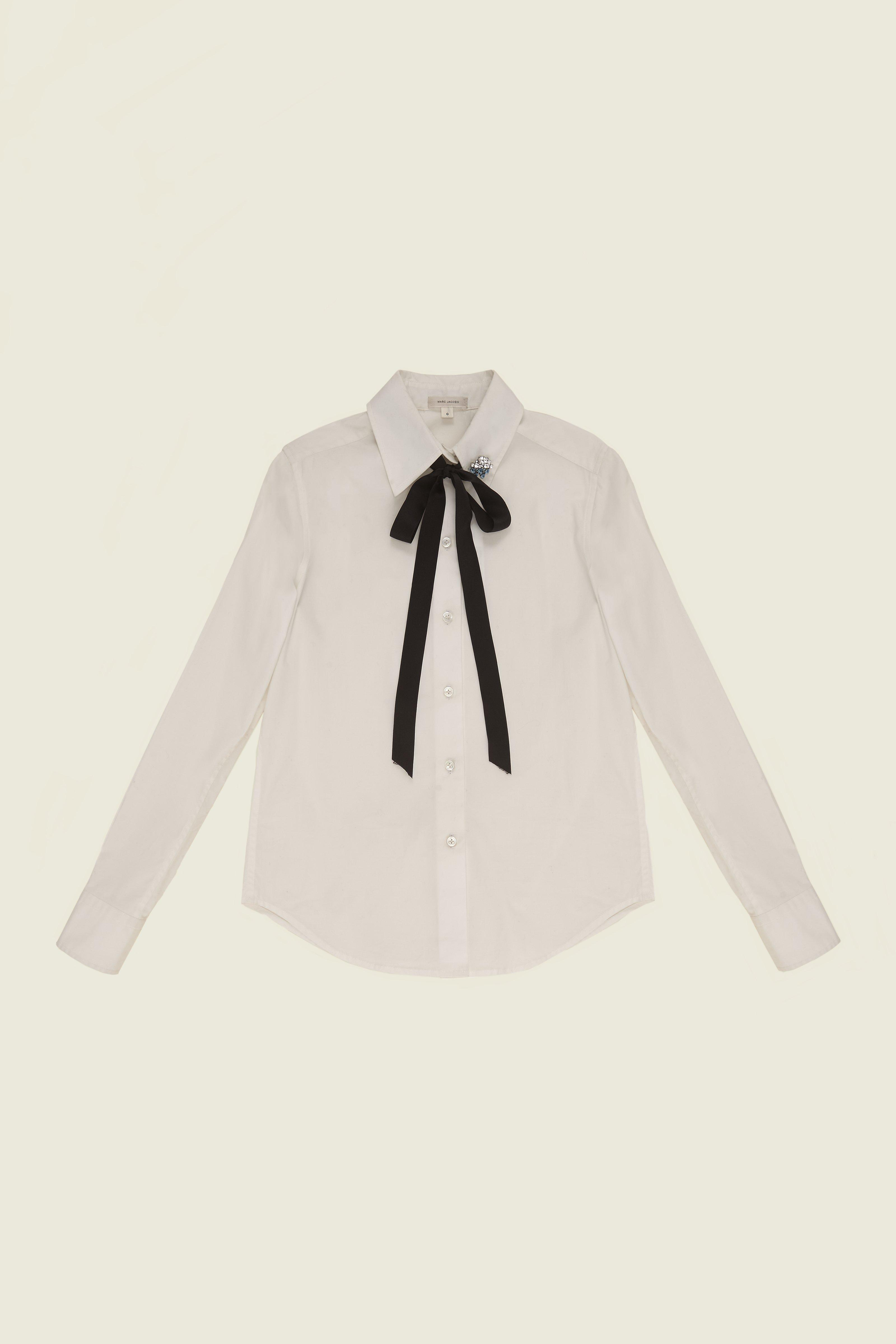 MARC JACOBS Cotton Shirt With Bow And Collar Detail