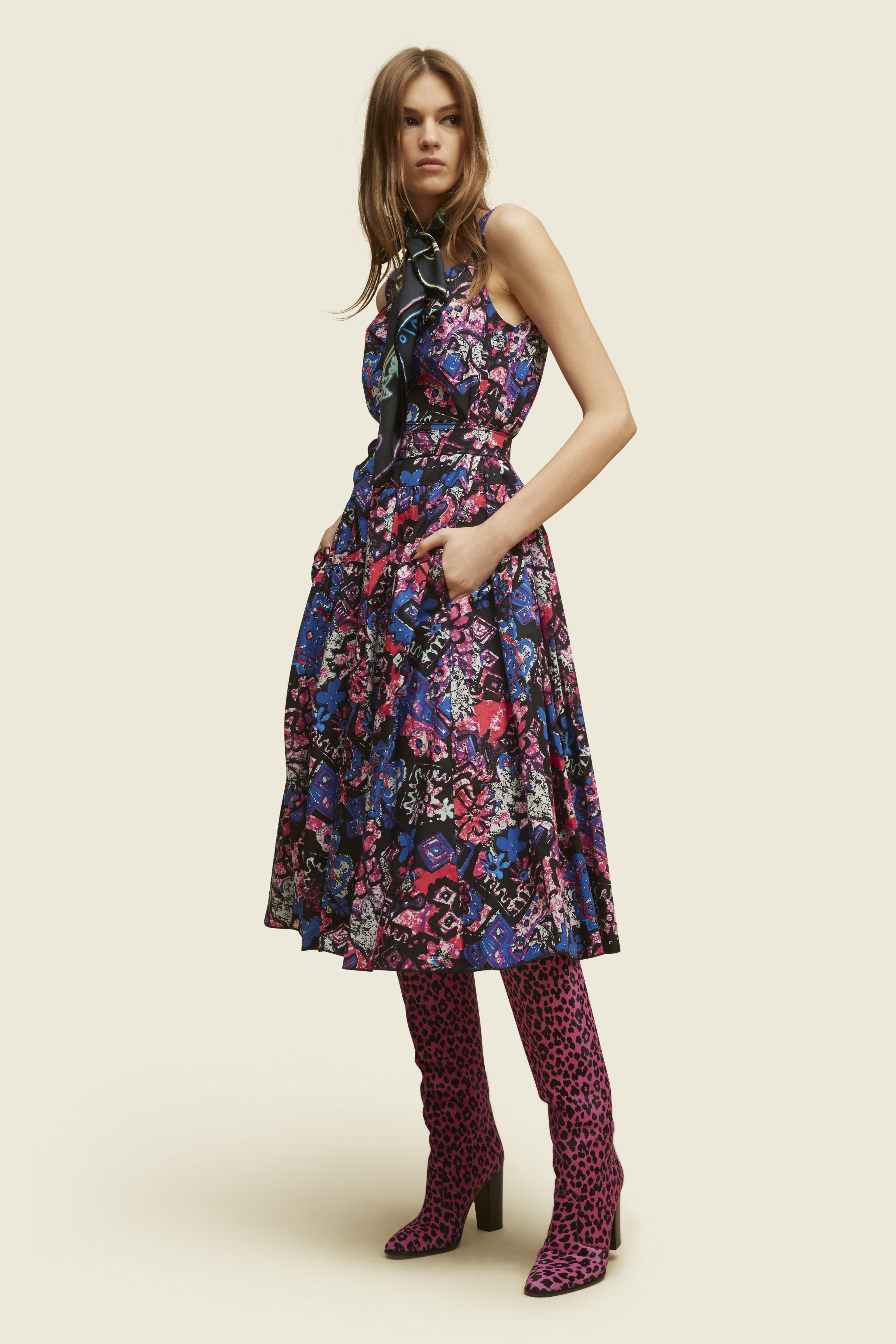 Short-Sleeve Ruffle Dress - Marc Jacobs