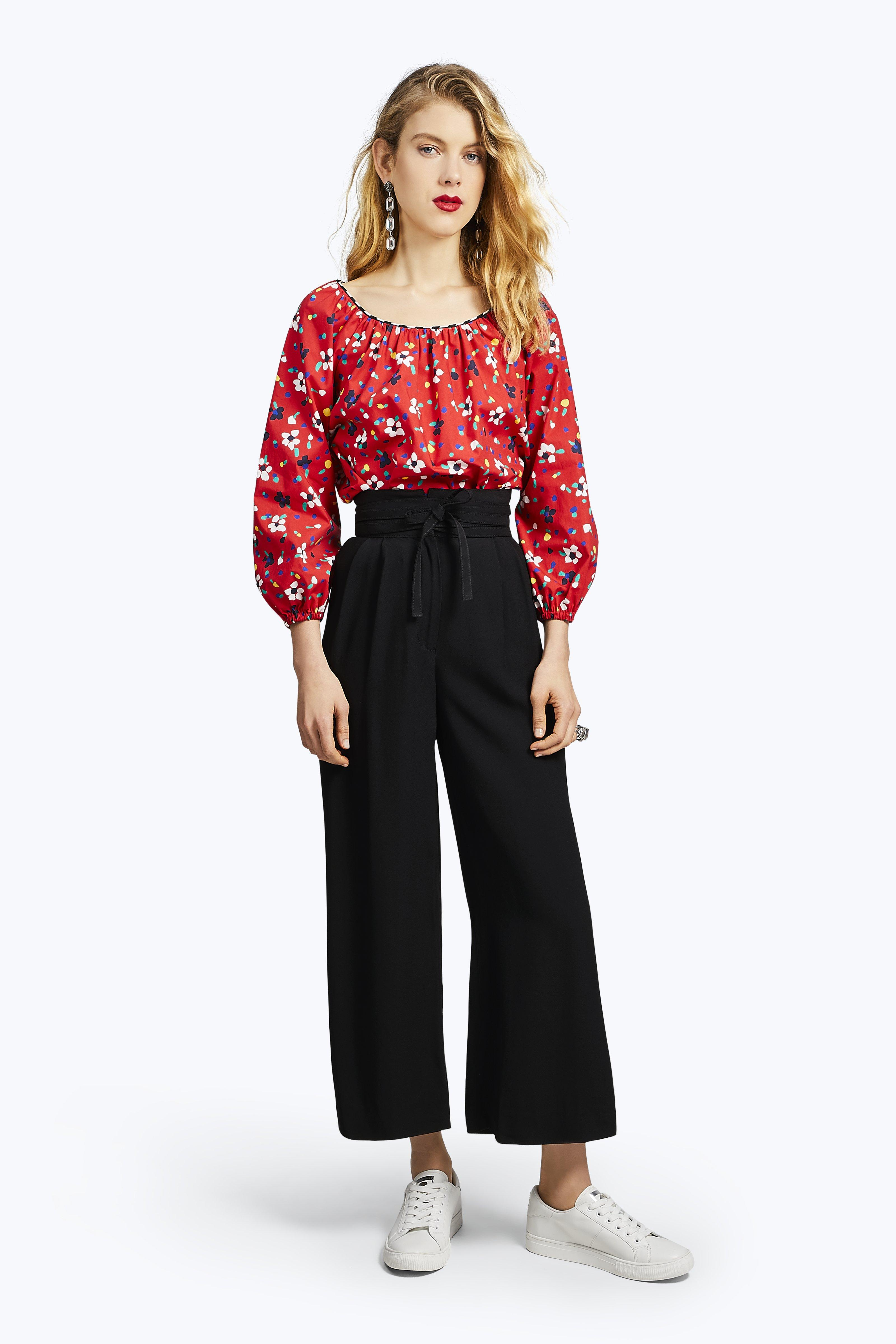 Marc Jacobs Blouses Painted Flower Peasant Blouse