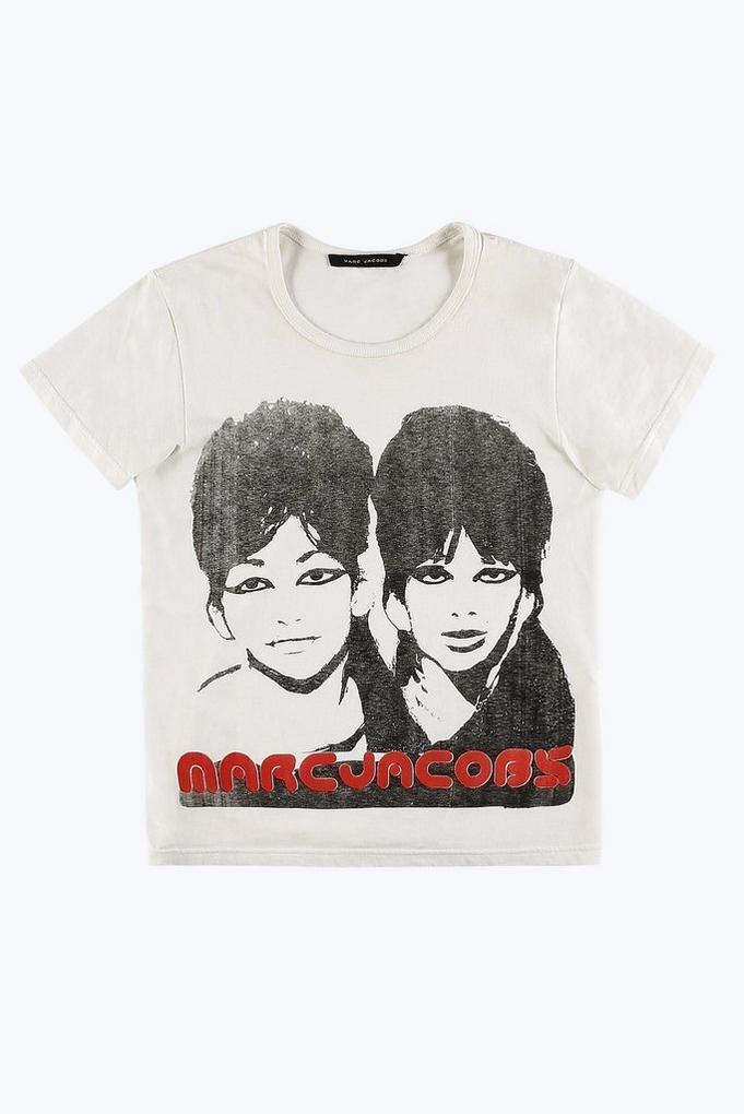 White Sista Sista T-Shirt Marc Jacobs