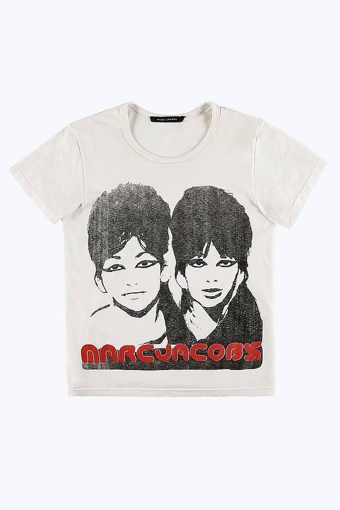 White Sista Sista T-Shirt Marc Jacobs Good Selling Cheap Online Outlet Shop Offer Clearance Clearance Store Low Shipping Cheap Online Cheap Best Store To Get 59vCno