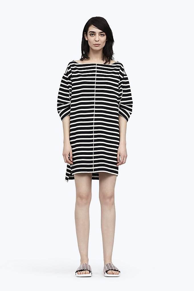 Stamped Stripe Dress