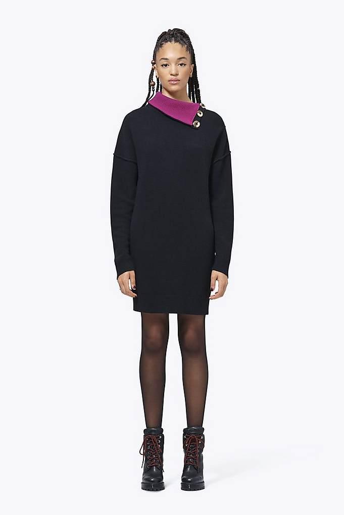 Pieced Turtleneck Dress