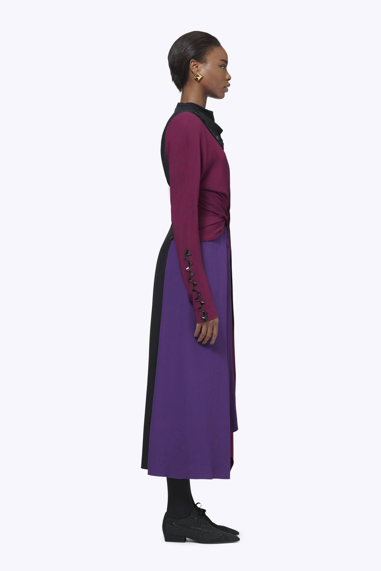 03a5f9a33bf8 Satin Back Crepe Wrap Dress