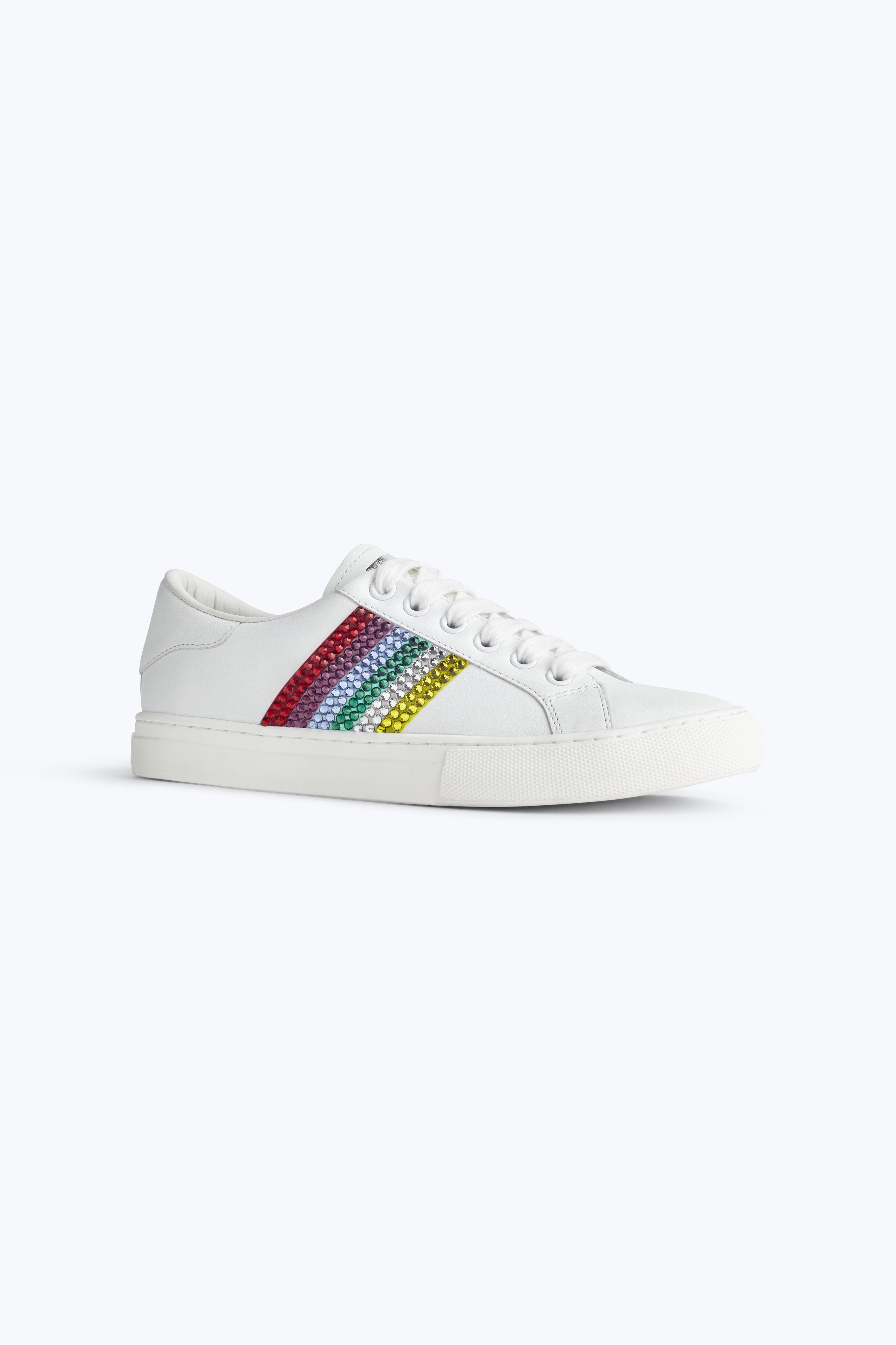 Empire crystal-embellished low-top sneakers - White Marc Jacobs shrjMf