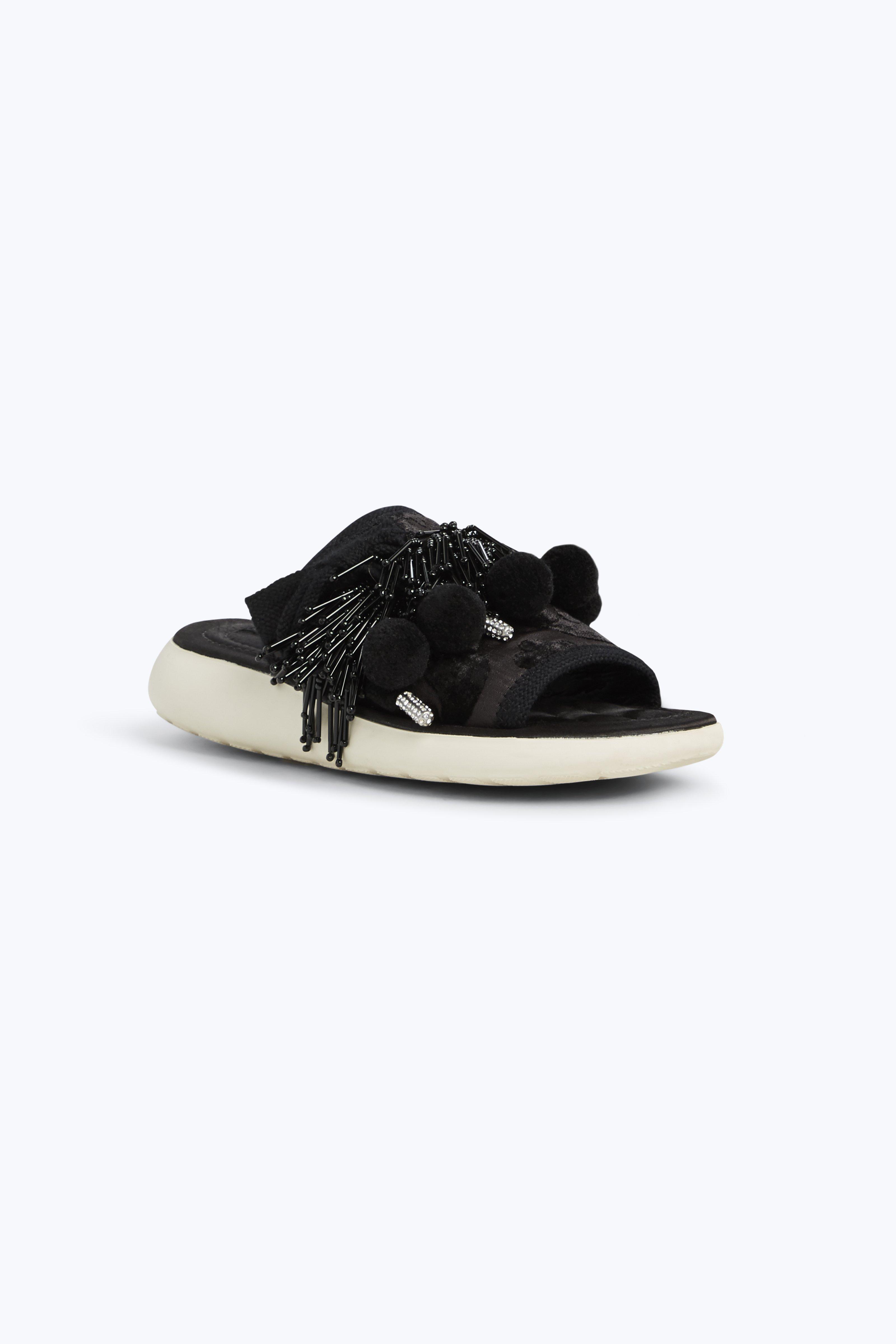 Marc Jacobs Velvets Emerson Pompom Sport Sandal