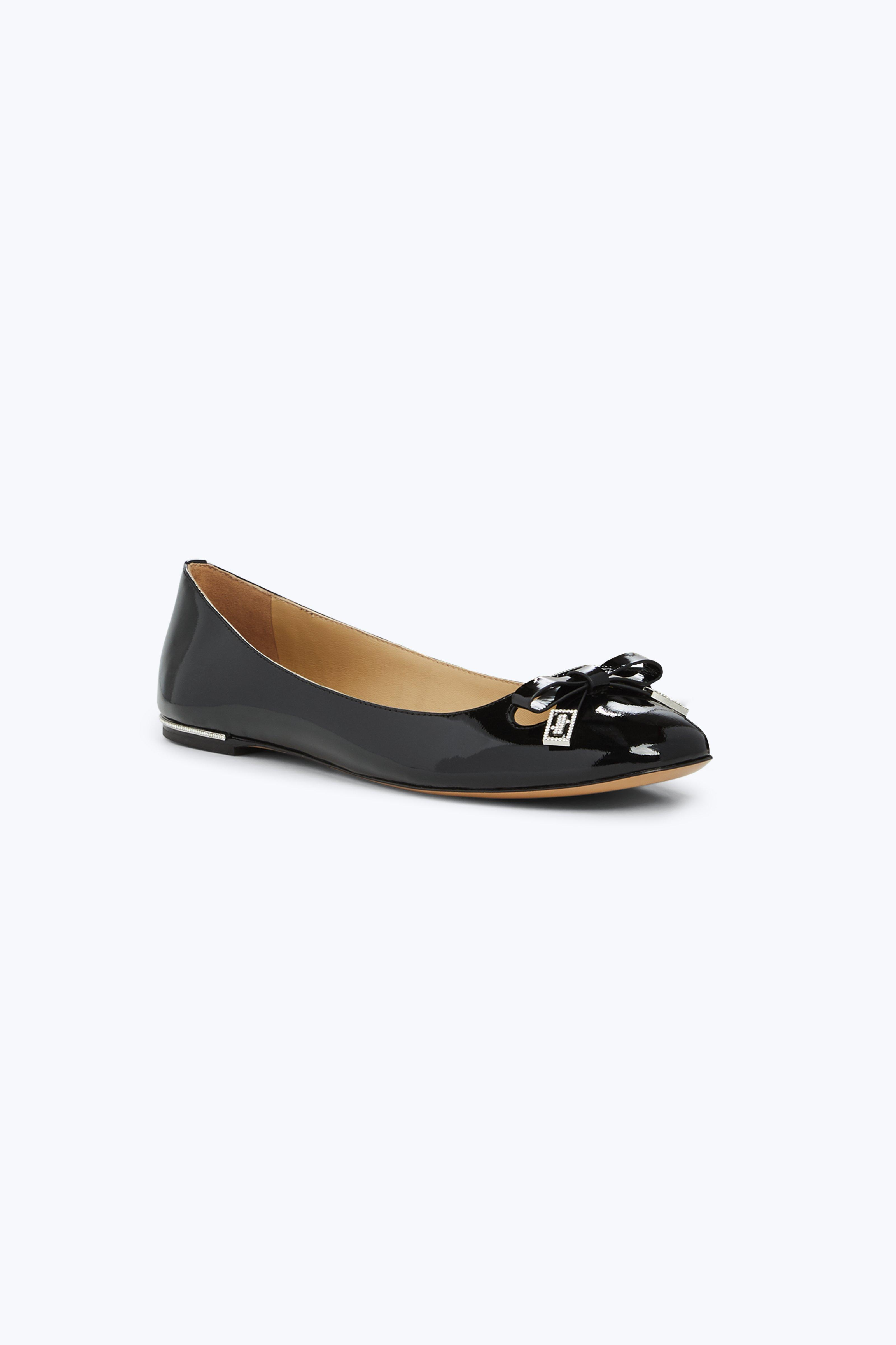 Sophie Patent Leather Ballerina Flats