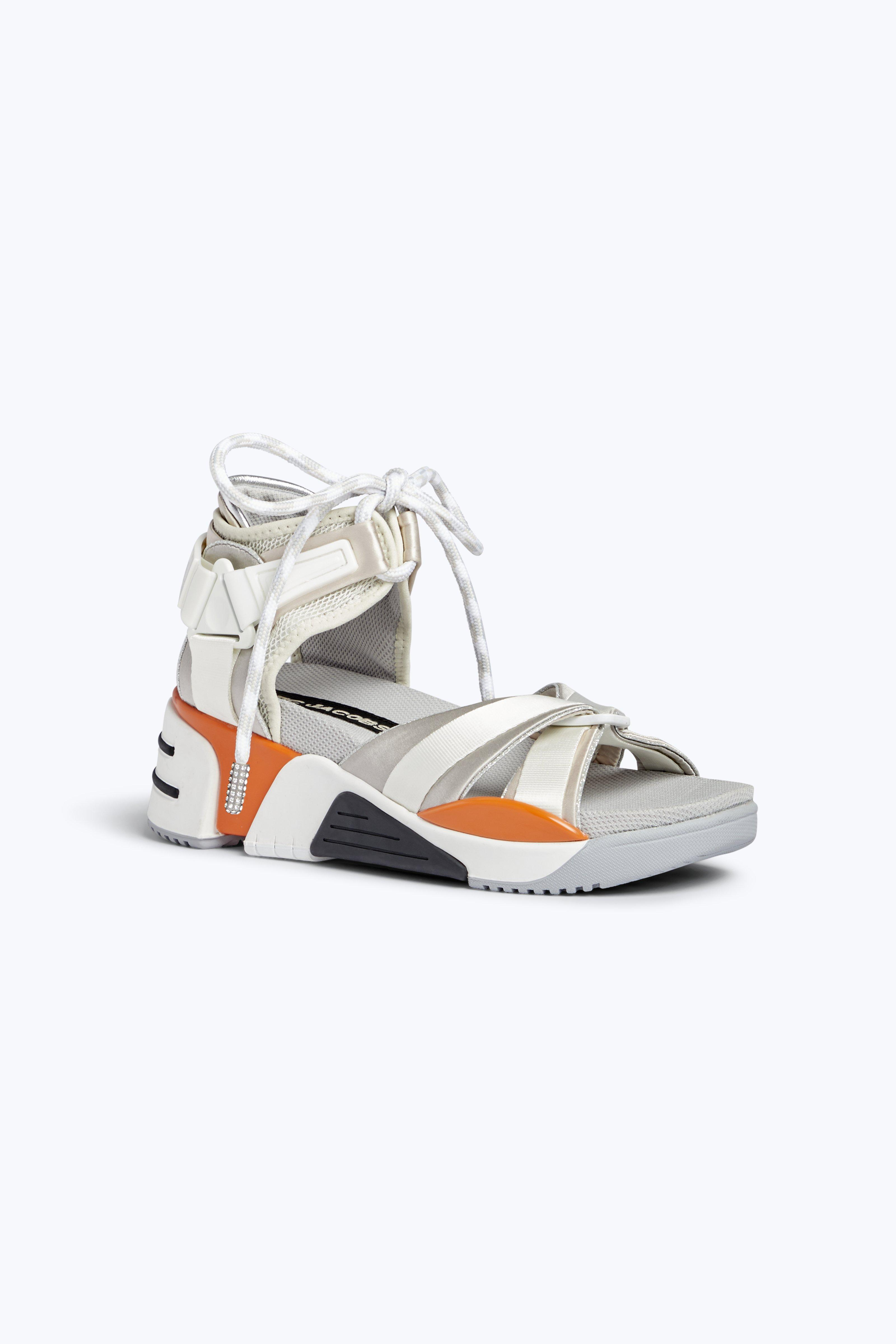 """""""SOMEWHERE"""" MIXED-MATERIAL SANDALS"""