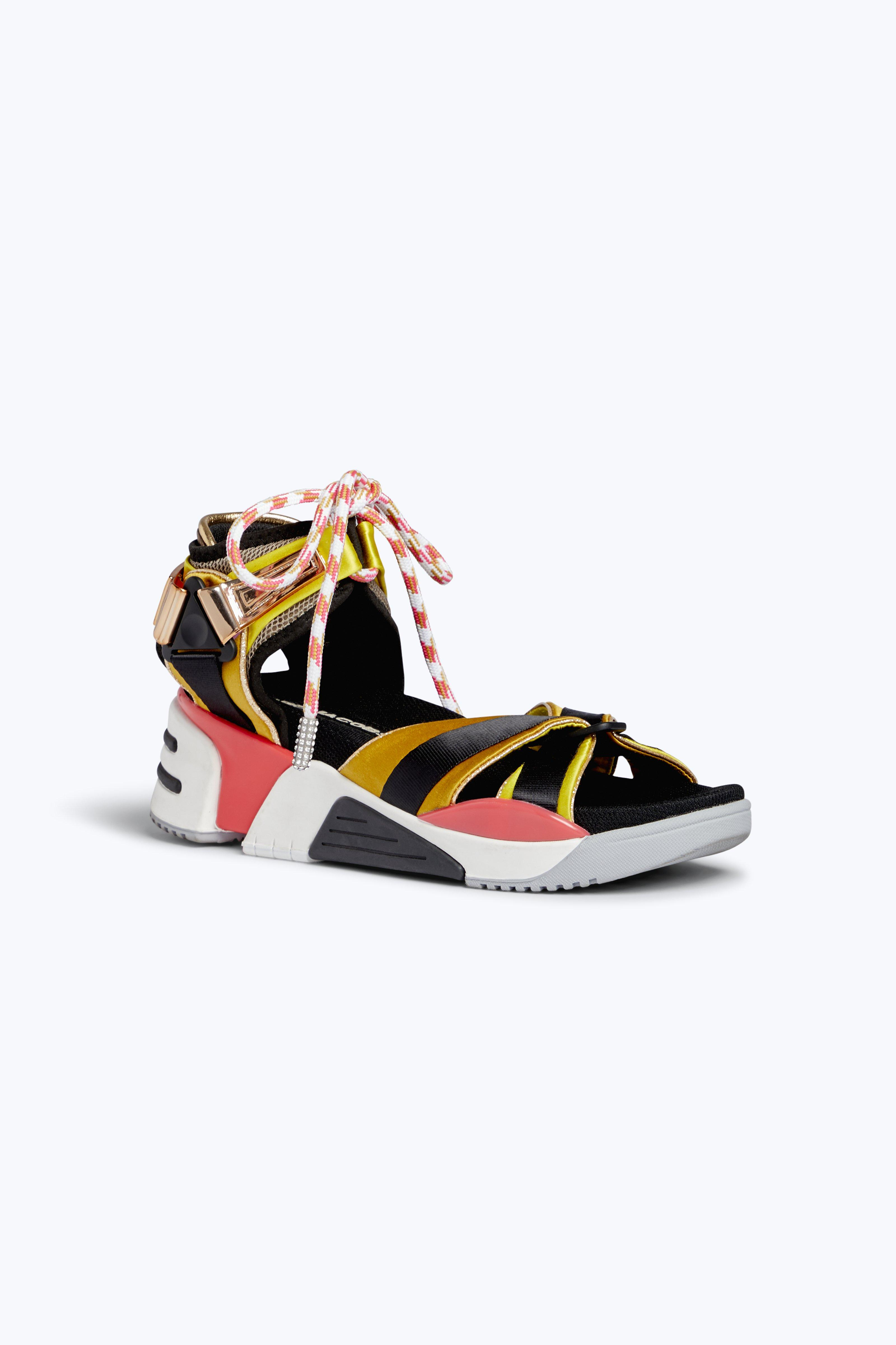 Somewhere Sport Mesh And Satin Sandals in Multicolour