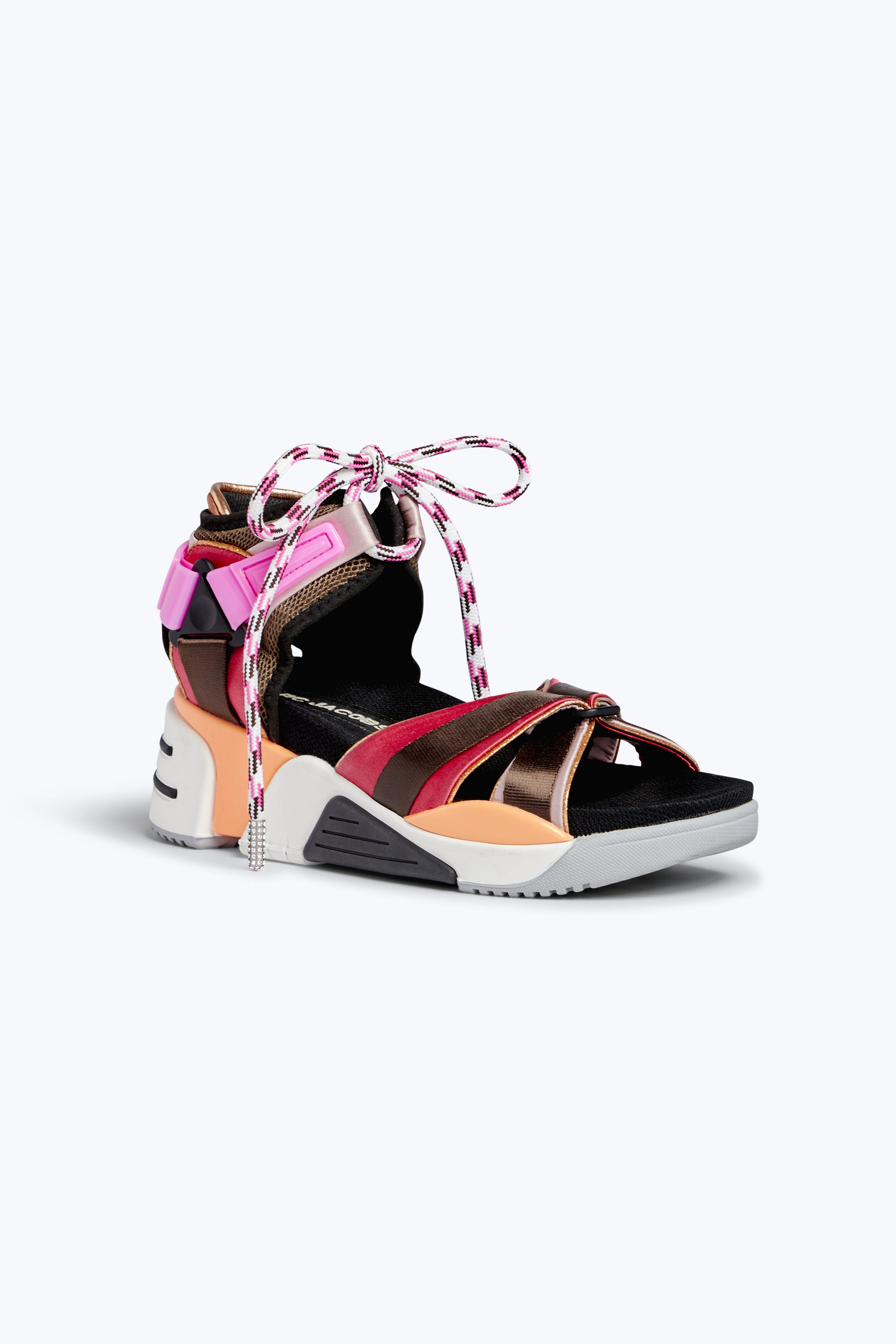 ce172333ced73 Marc Jacobs Women S Somewhere Satin Platform Wedge Sport Sandals In 953  Rasberr